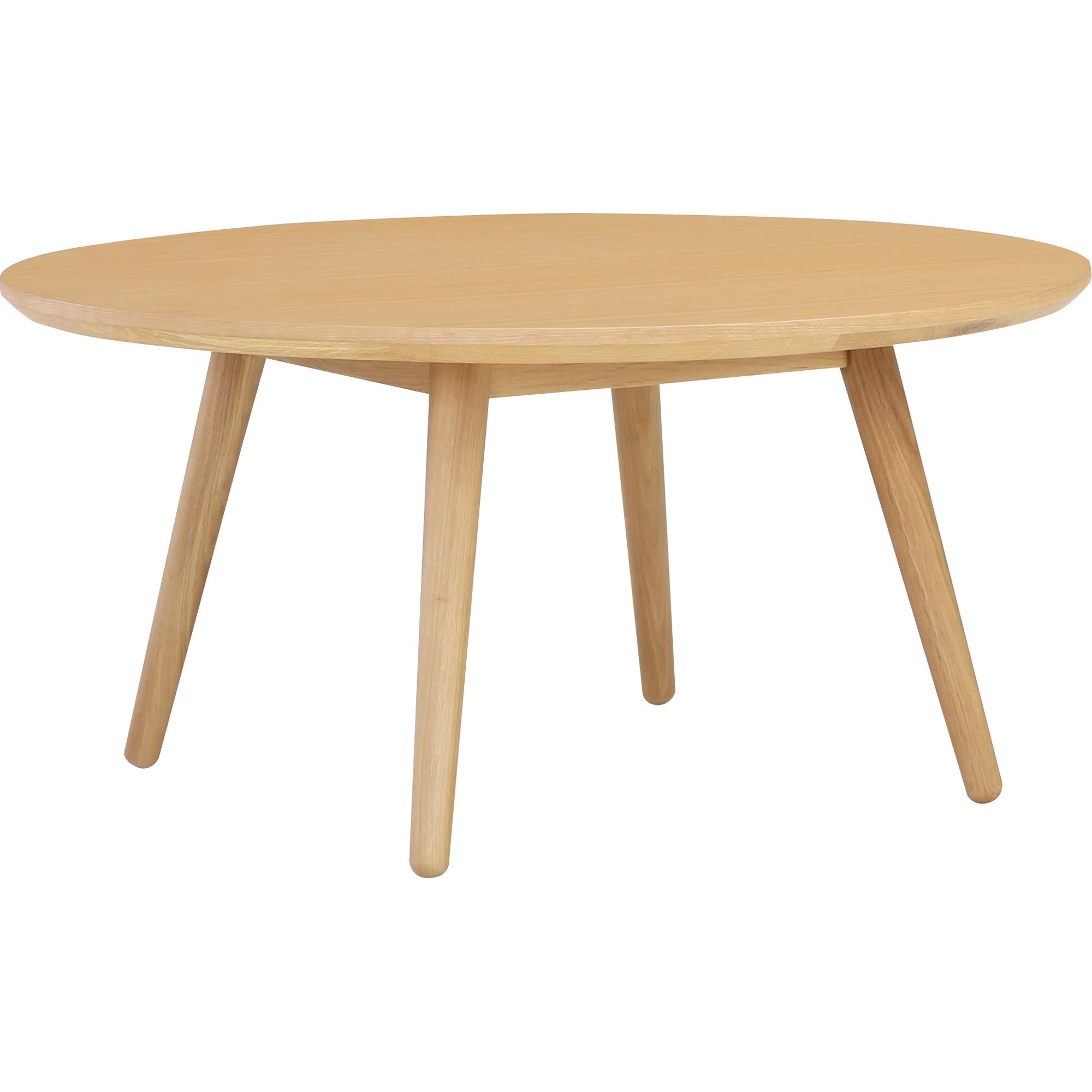 Round Wood Coffee Table.Oringo Round Oak Wood Coffee Table