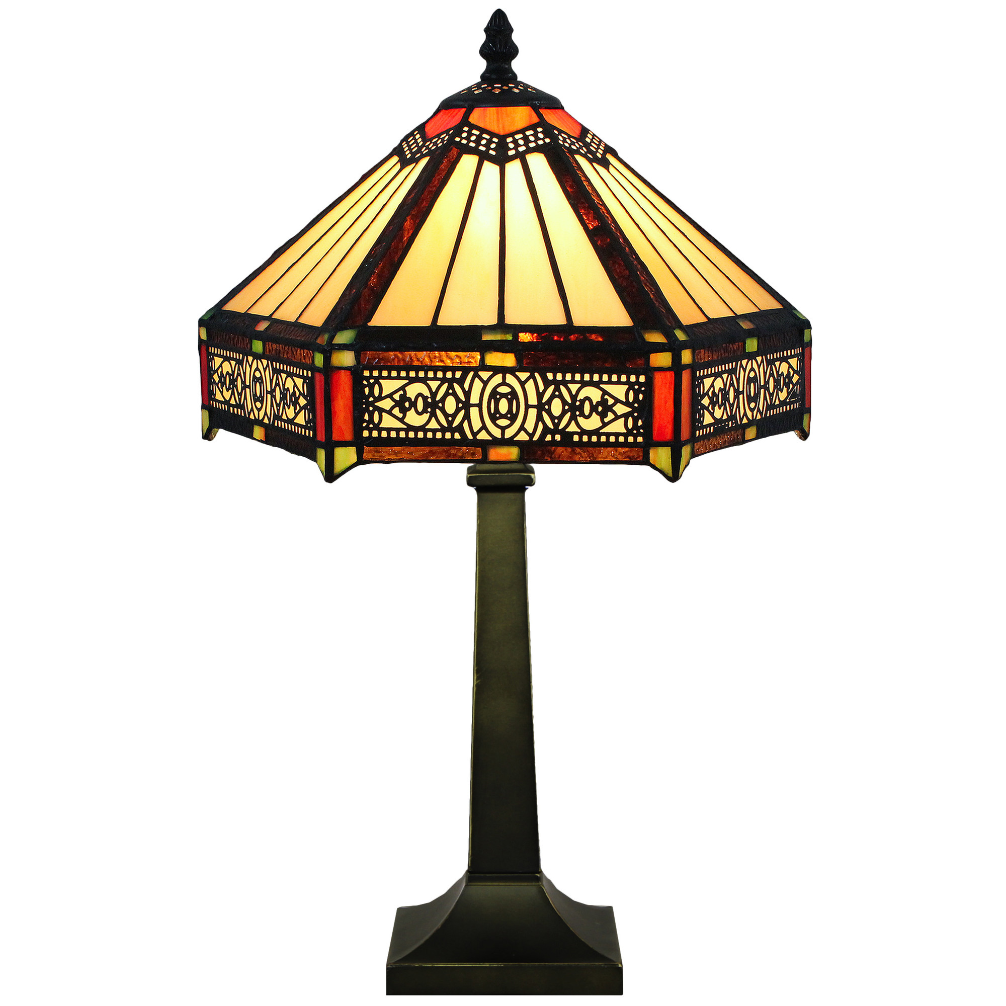 Six sided style stained glass table lamp temple webster sku forh1150 six sided style stained glass table lamp is also sometimes listed under the following manufacturer numbers jtdy12t22 aloadofball