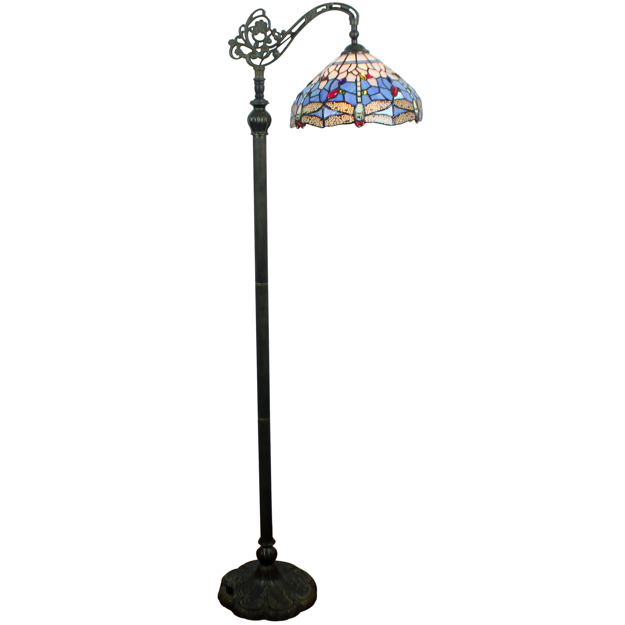 Forest Tiffany Blue Dragonfly Tiffany Style Floor Lamp Reviews Temple Webster