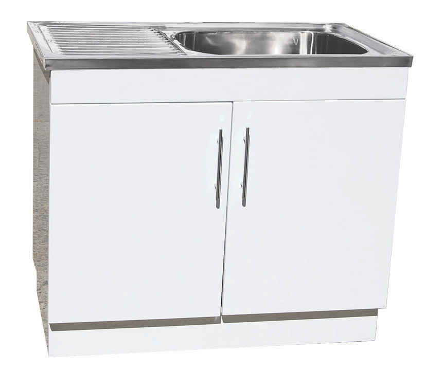 product trough waste sink stainless fl bypass ozwide cabinet pty kit ltd laundry steel tub sales adjustable