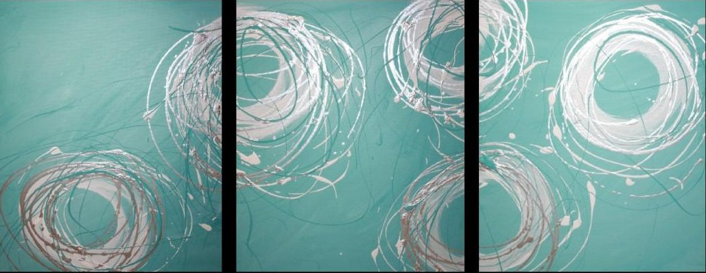 NEW-3-Piece-Abstract-Canvas-Painting-in-Turquoise