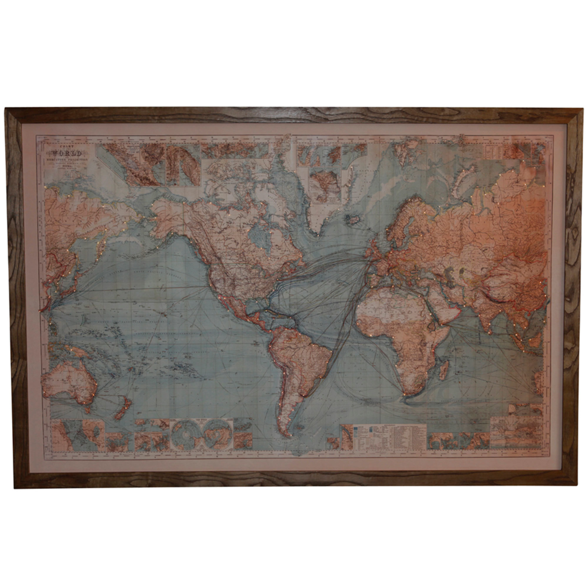 Light Up World Map Wall Hanging | Temple & Webster on