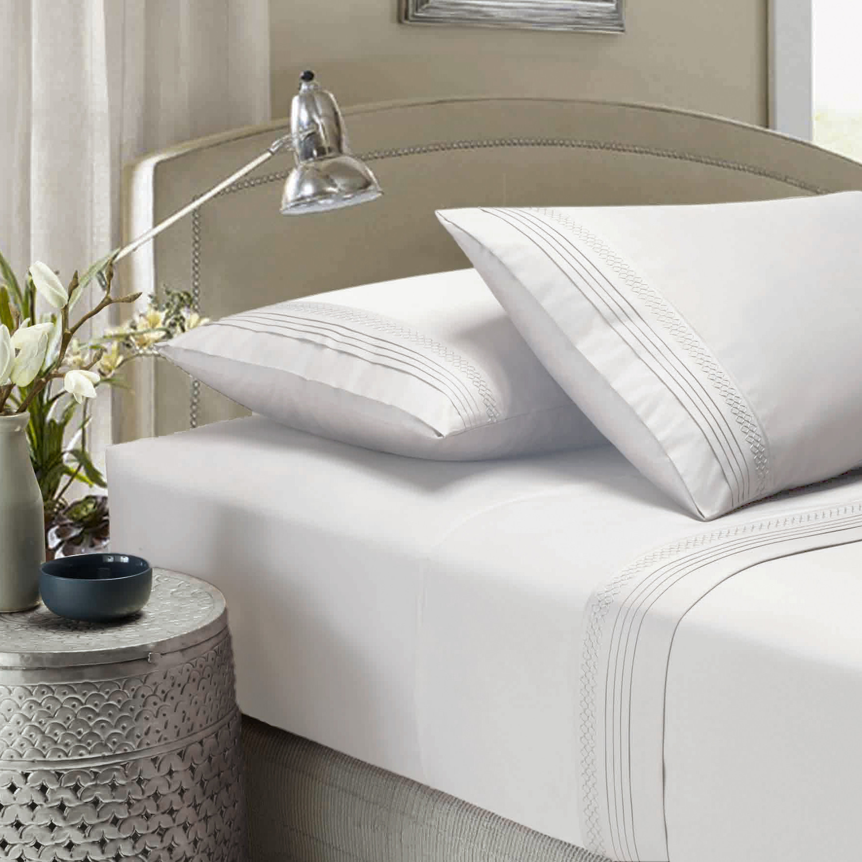 About white 1000tc egyptian cotton complete bedding collection sheet - Sku Miho1029 White Style Co Smocking 1000tc Egyptian Cotton Sheet Sets Is Also Sometimes Listed Under The Following Manufacturer Numbers 0221037