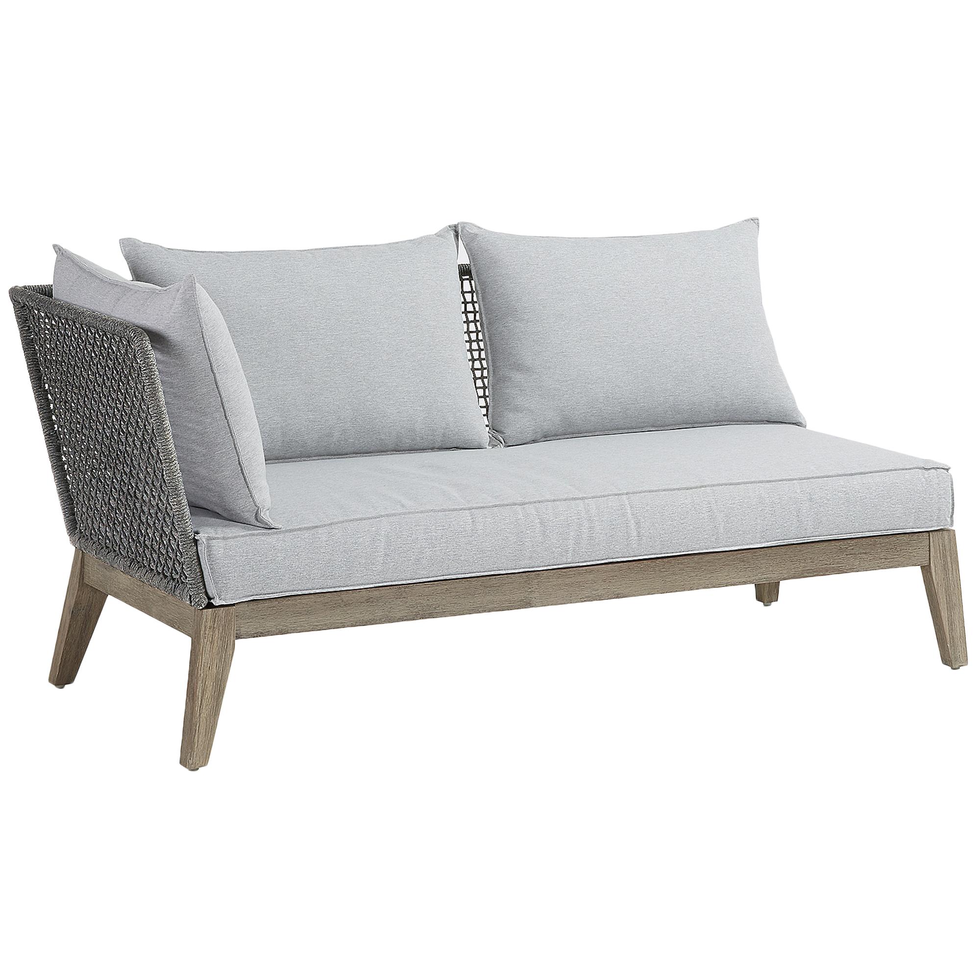 Grey Alston Acacia 2 Seater Outdoor Sofa
