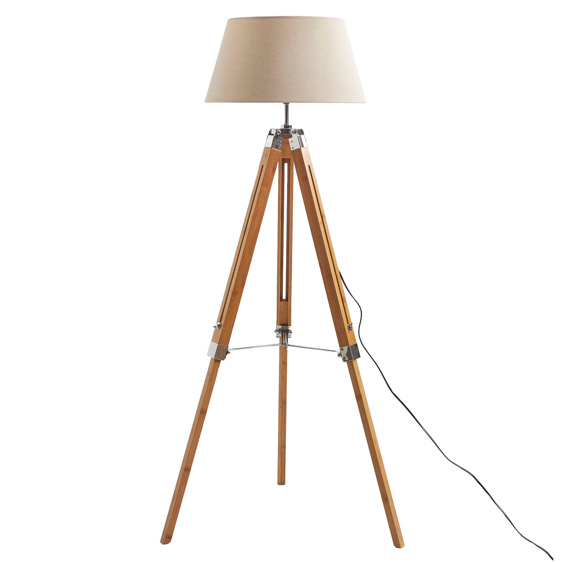 tripod lamps lamp silver of large standing grey wooden decorating for small dark size floor full shelves room with