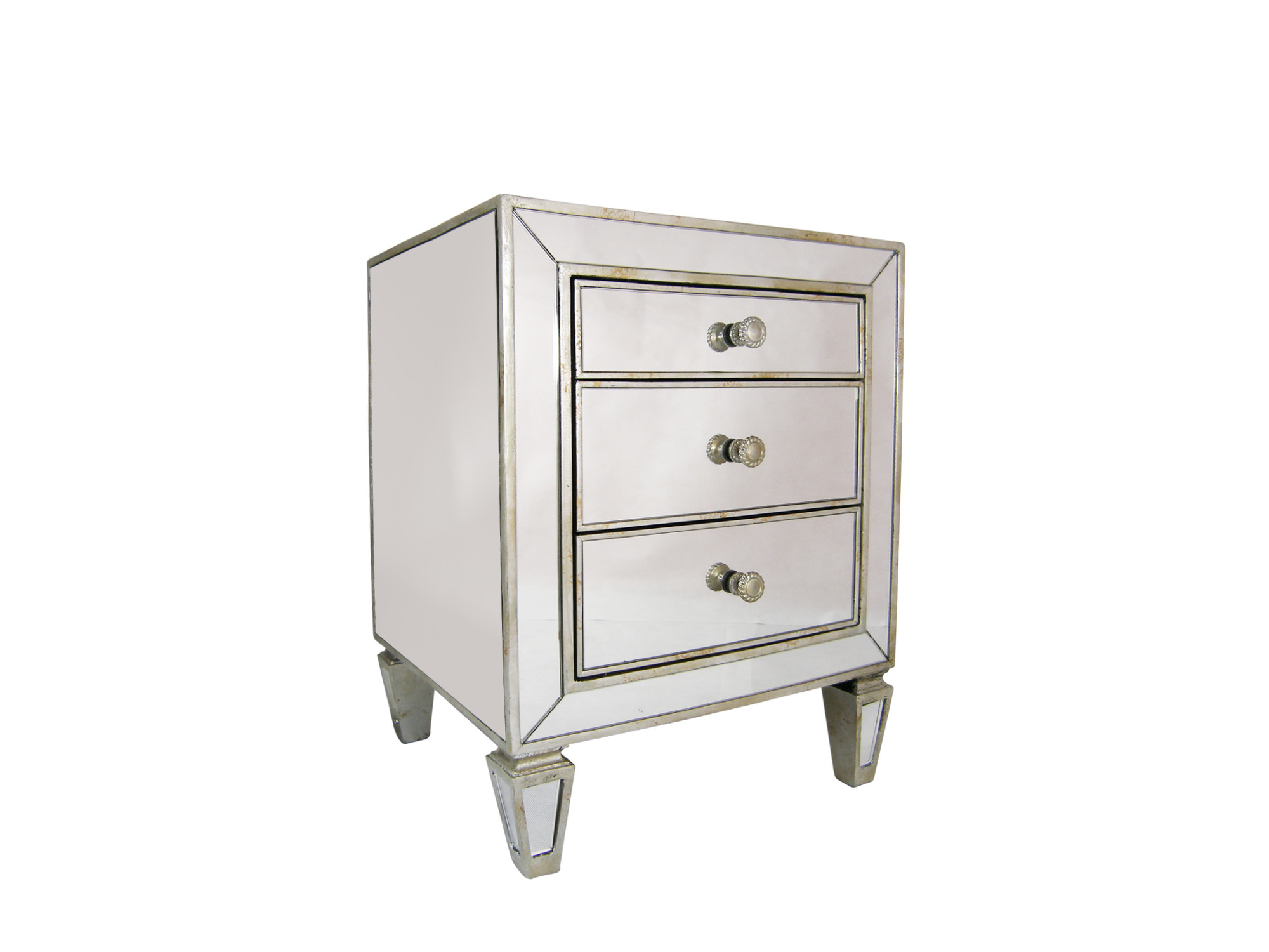 2a76c5709cda SKU #EWEG1199 Sara 3 Drawer Mirrored Bedside Table is also sometimes listed  under the following manufacturer numbers: 41116