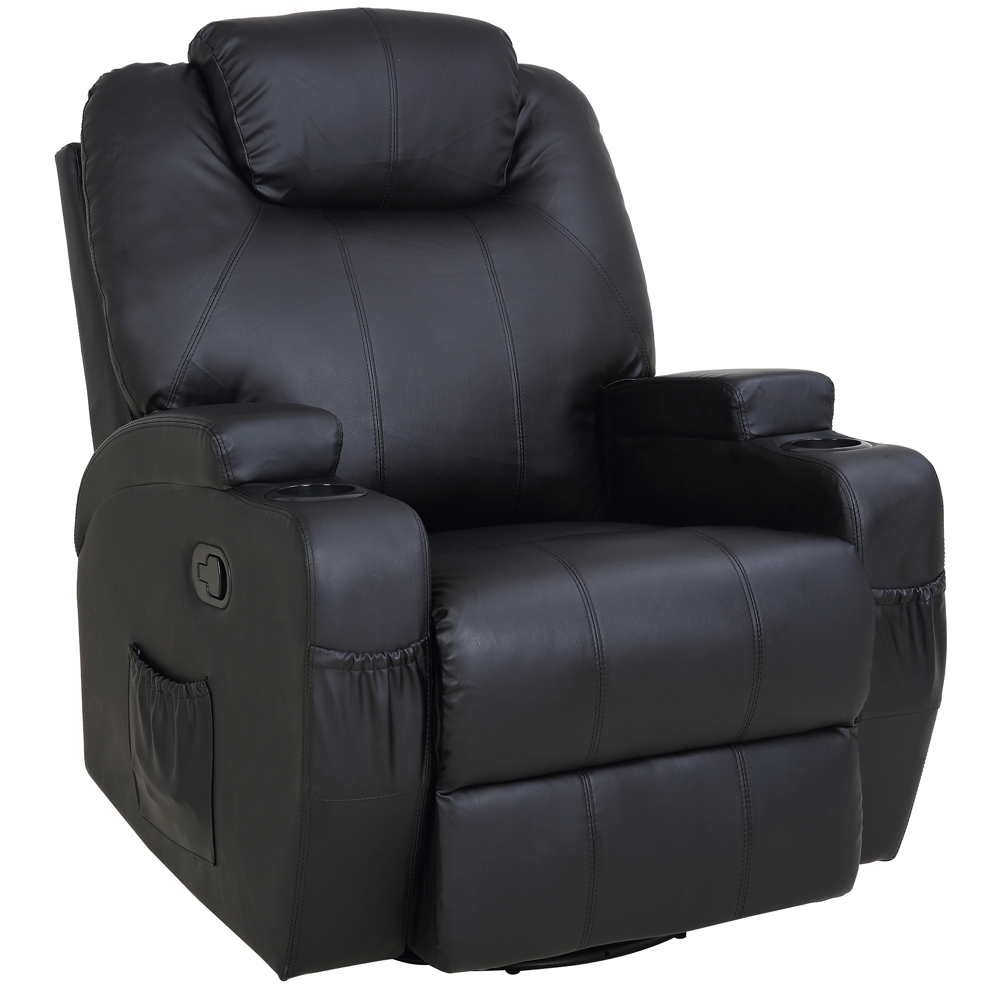 Malandi Heated Faux Leather Recliner Chair