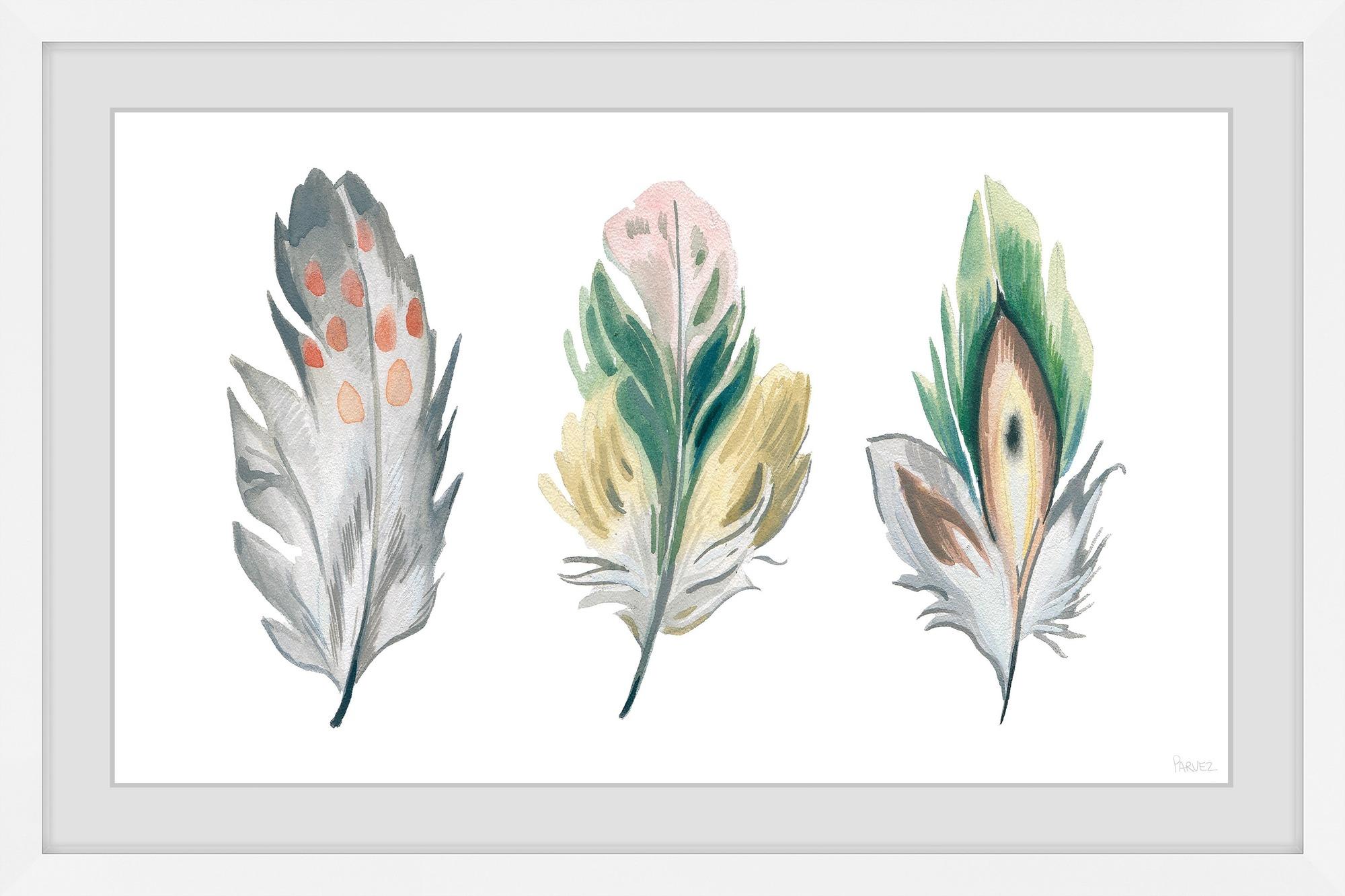 214412b7 Festive Feathers Framed Printed Wall Art