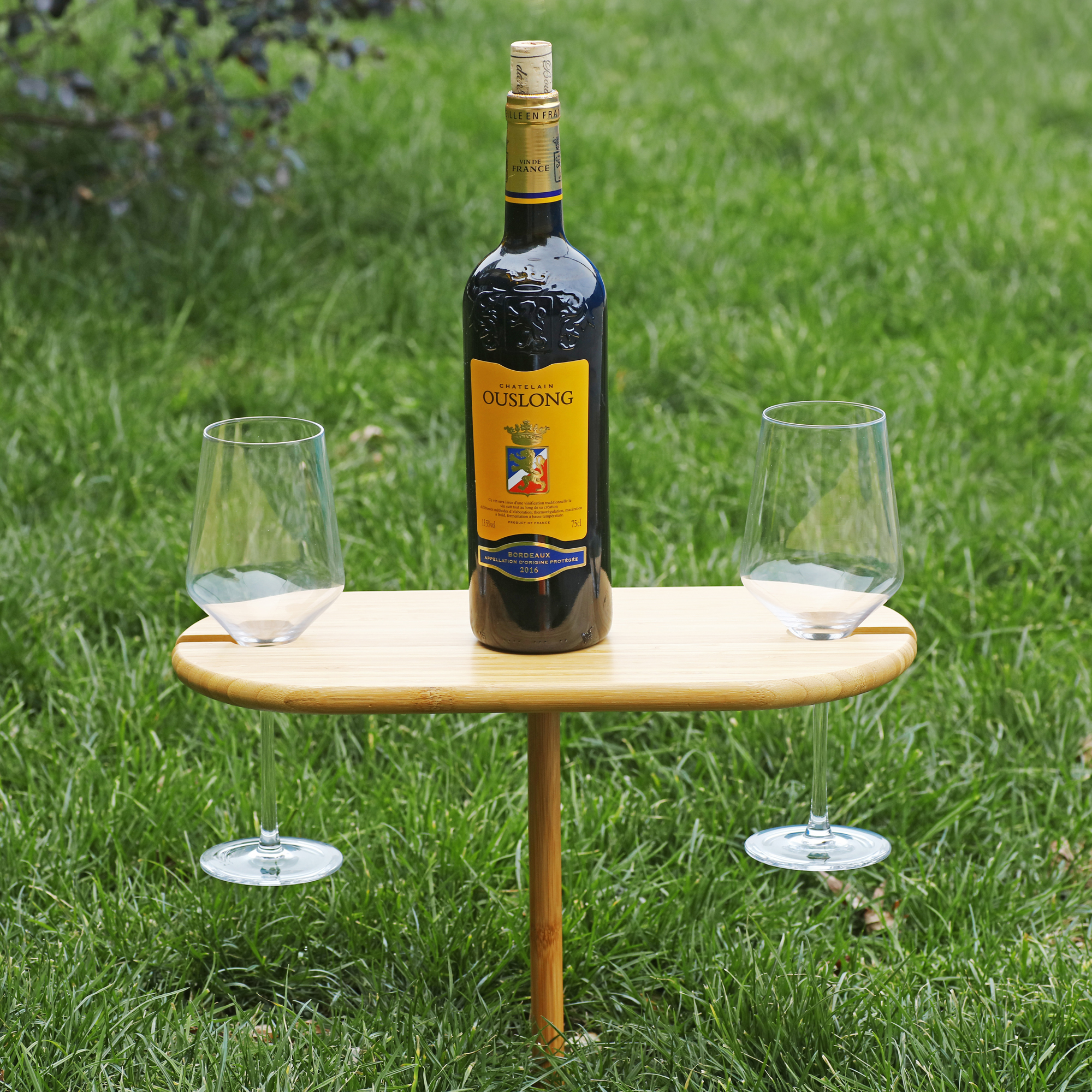 Sherwood Bamboo Outdoor Wine Table | Beanstalk Mums