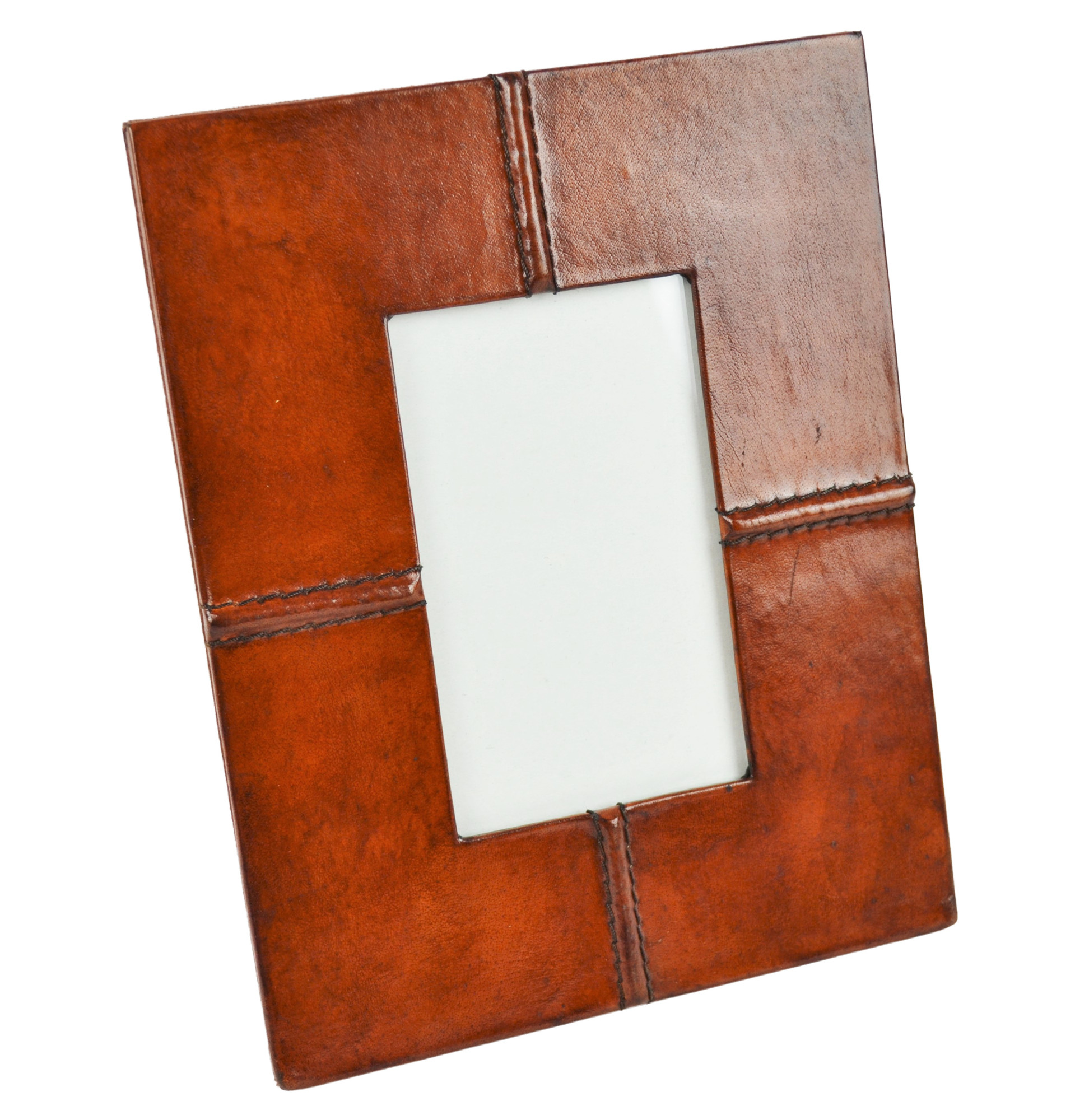 Tan Leather Photo Frame | Temple & Webster