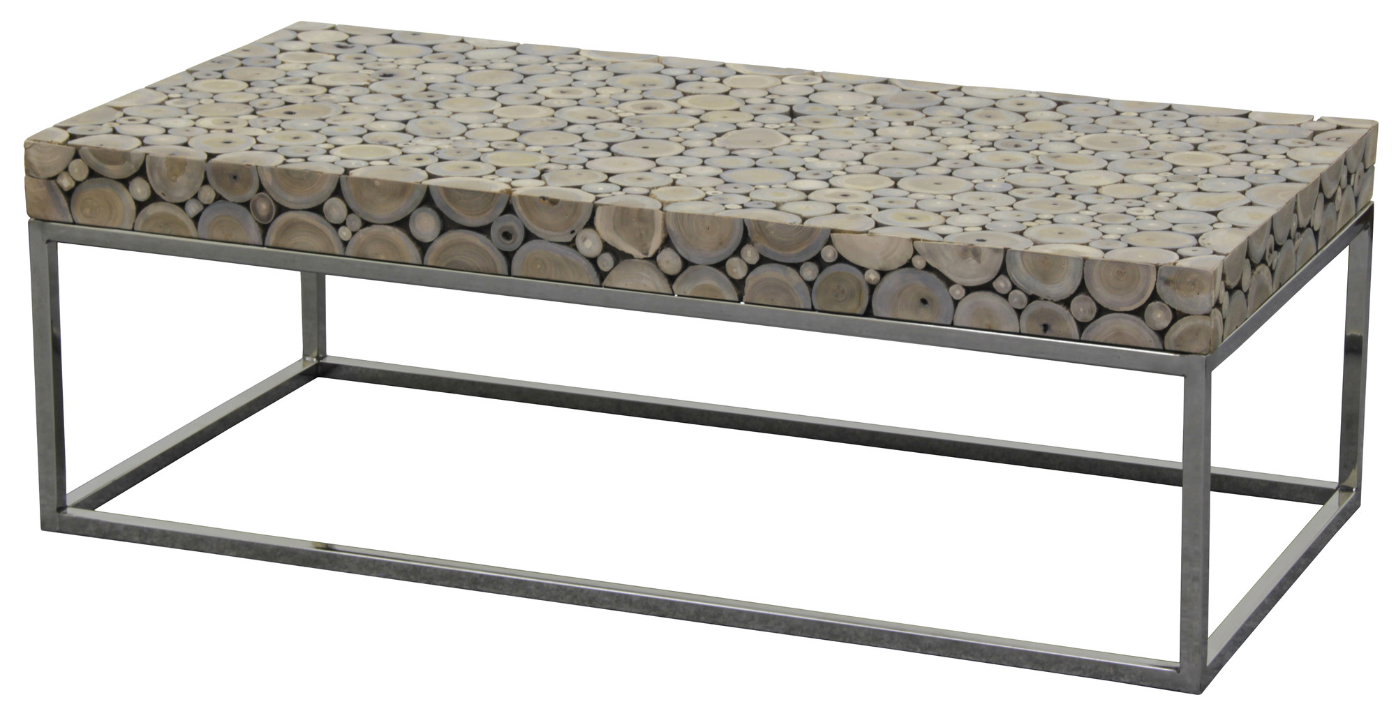SKU #CVER1145 Recycled Driftwood Coffee Table With Stainless Steel Legs Is  Also Sometimes Listed Under The Following Manufacturer Numbers: CT 120 60  DWSL