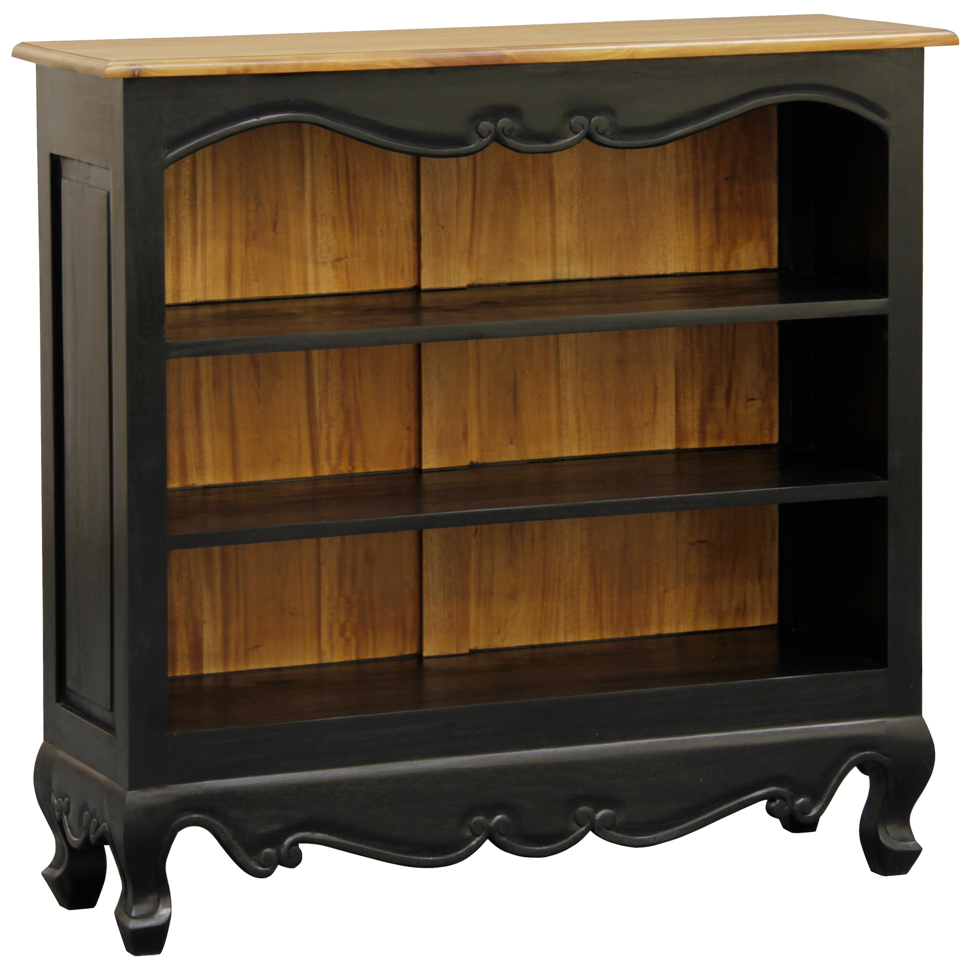 Small Queen Anne Solid Wood Bookcase