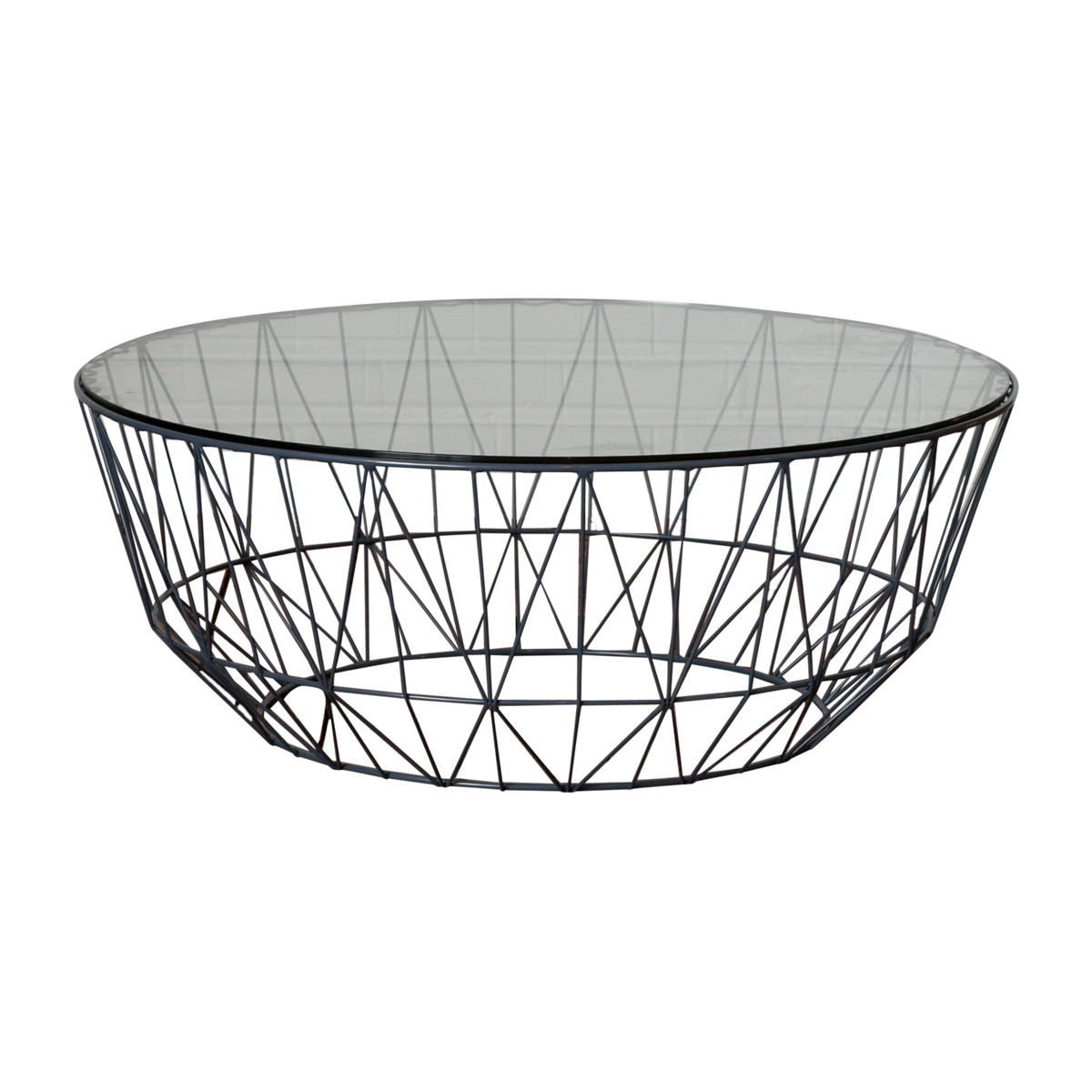 Club Wire Glass Coffee Table 90cm | Temple & Webster