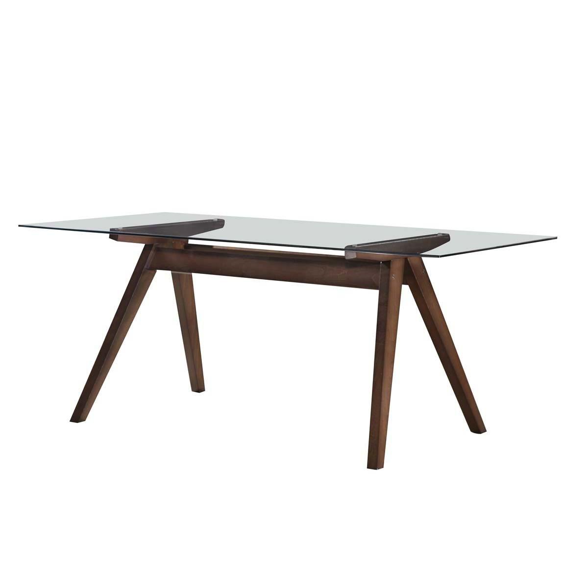 Walnut Hjordis Scandi Rectangle Dining Table