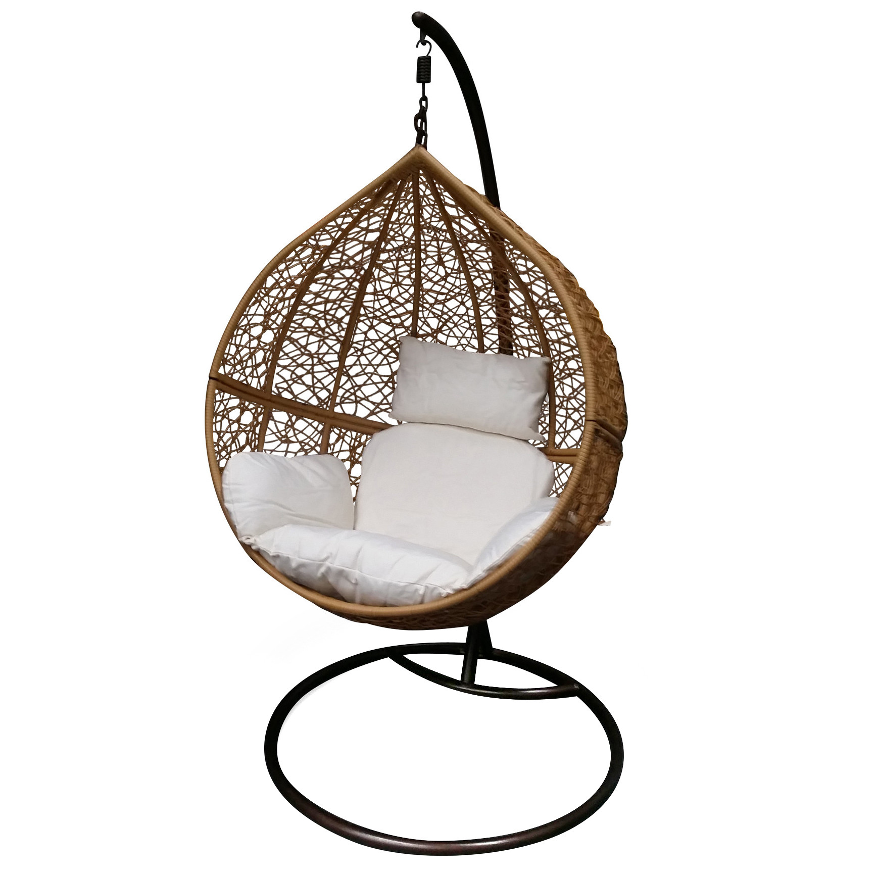 Light Brown Hanging Ball Chair