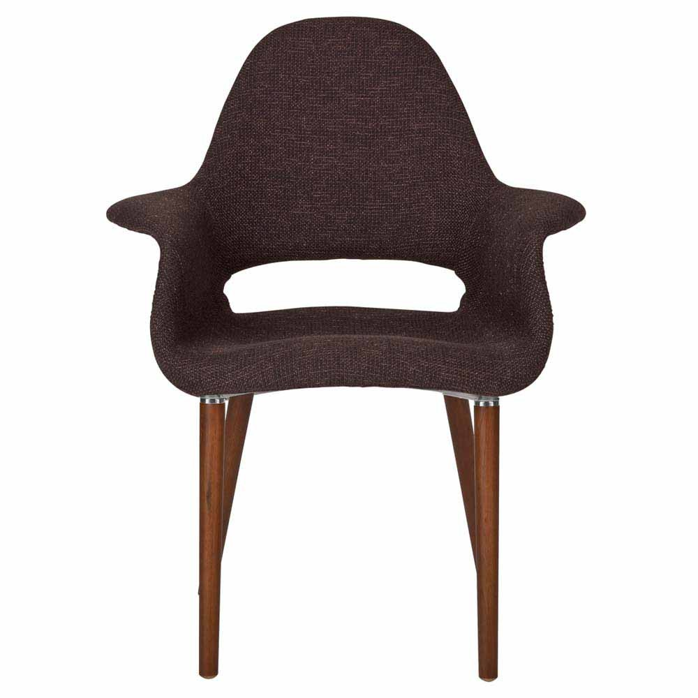 SKU #TPWT1080 Eames Replica Saarinen Organic Chair  Dark Brown Is Also  Sometimes Listed Under The Following Manufacturer Numbers: ADESODBF,  ADESOLBF, ...