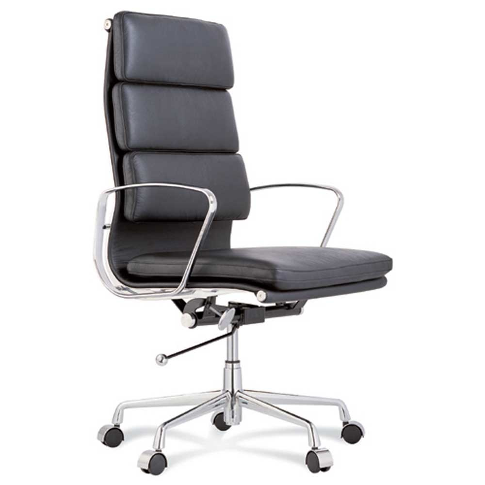 Contemporary Eames Reproduction Chair High Back Soft Pad Management Office Throughout Ideas