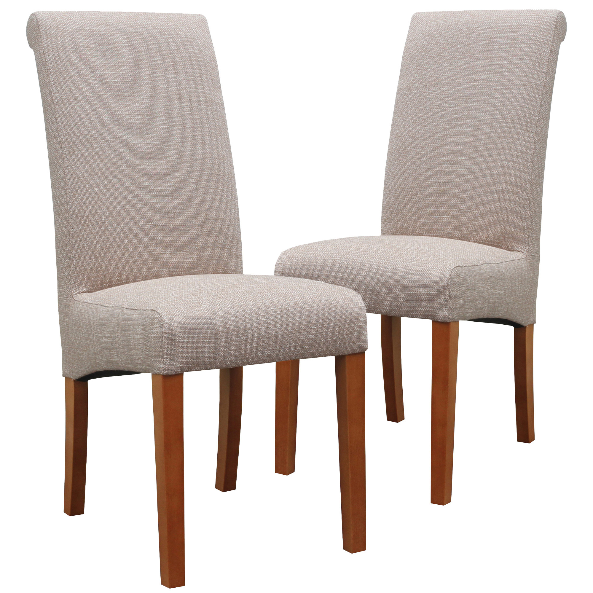 Milan Direct Upholstered Mission Walnut Dining Chairs & Reviews