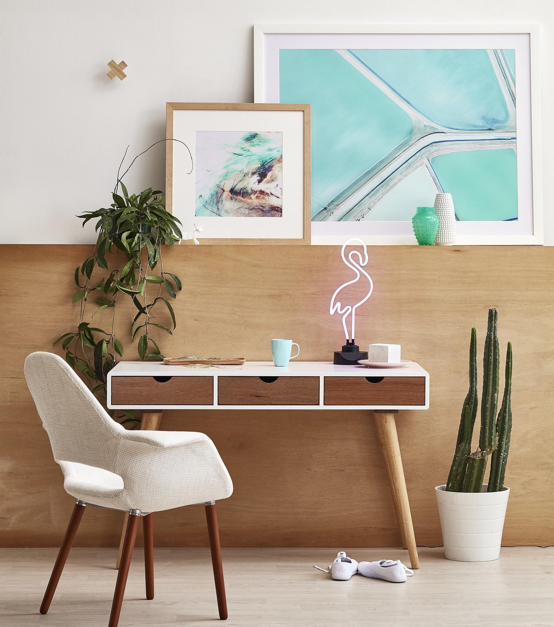 New milan direct johanne scandinavian style office desk ebay for Scandinavian home store