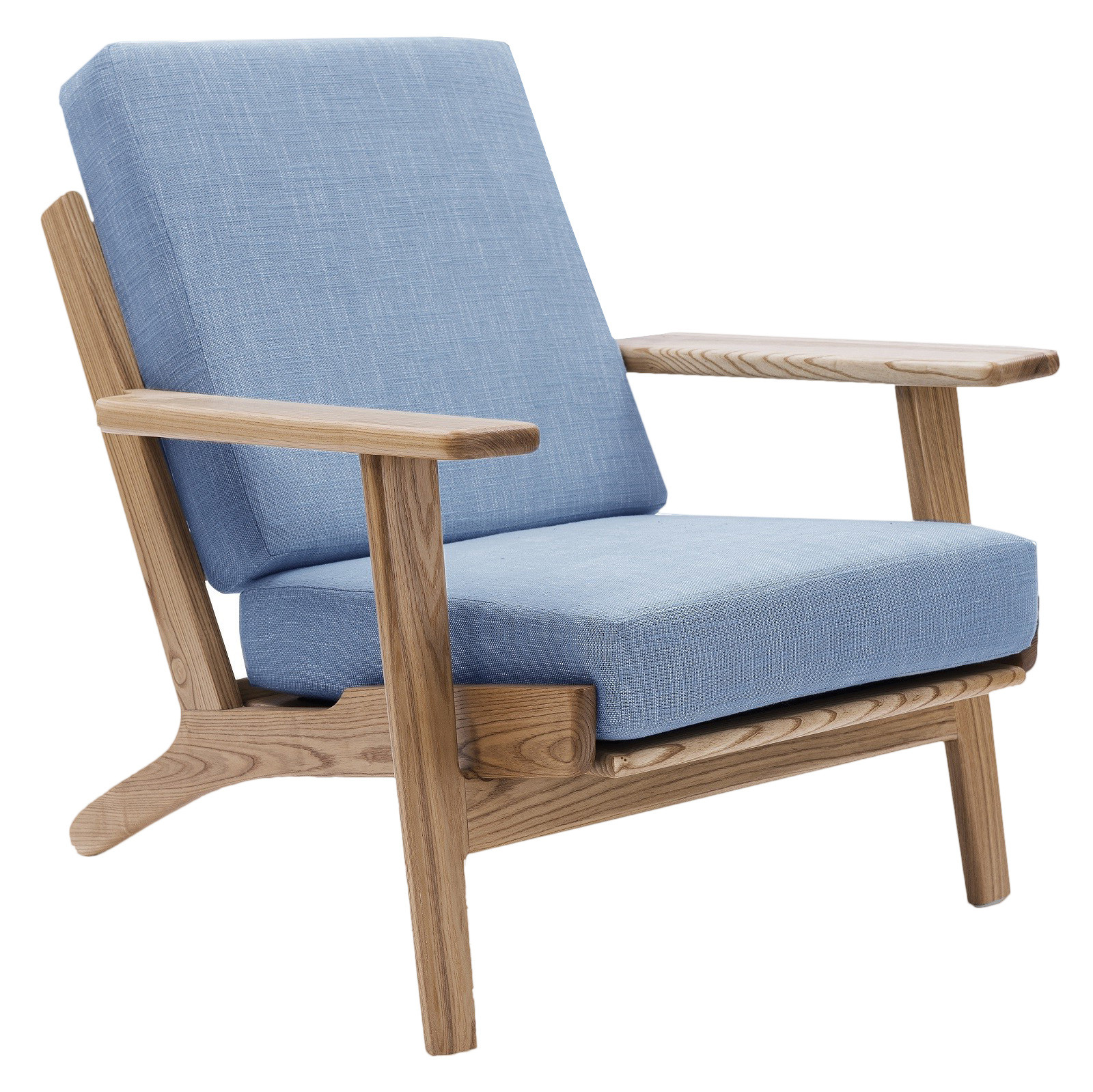Bon Light Blue Replica Hans Wegner Plank Armchair