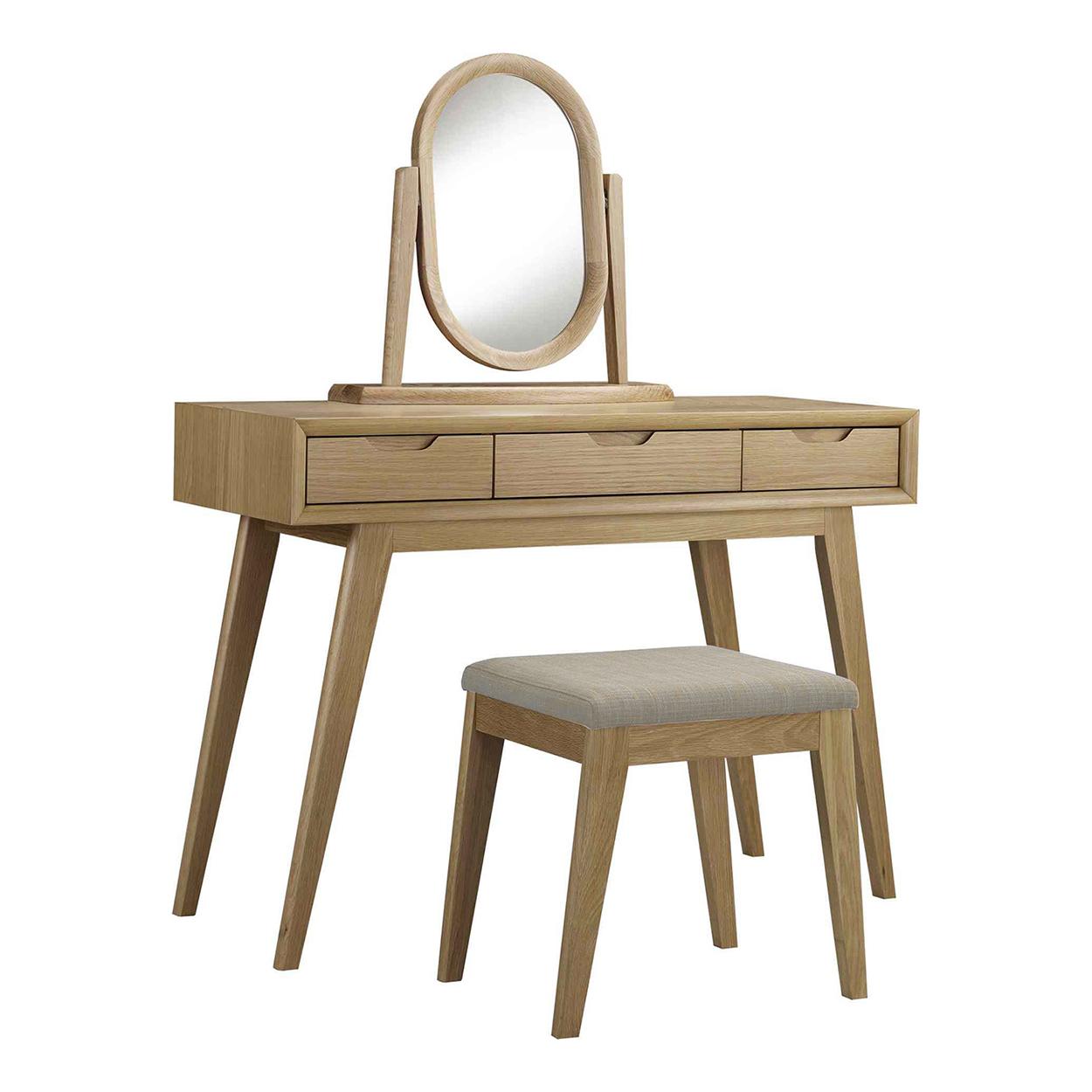 3 Piece Skov Natural Dressing Table Set | Temple & Webster