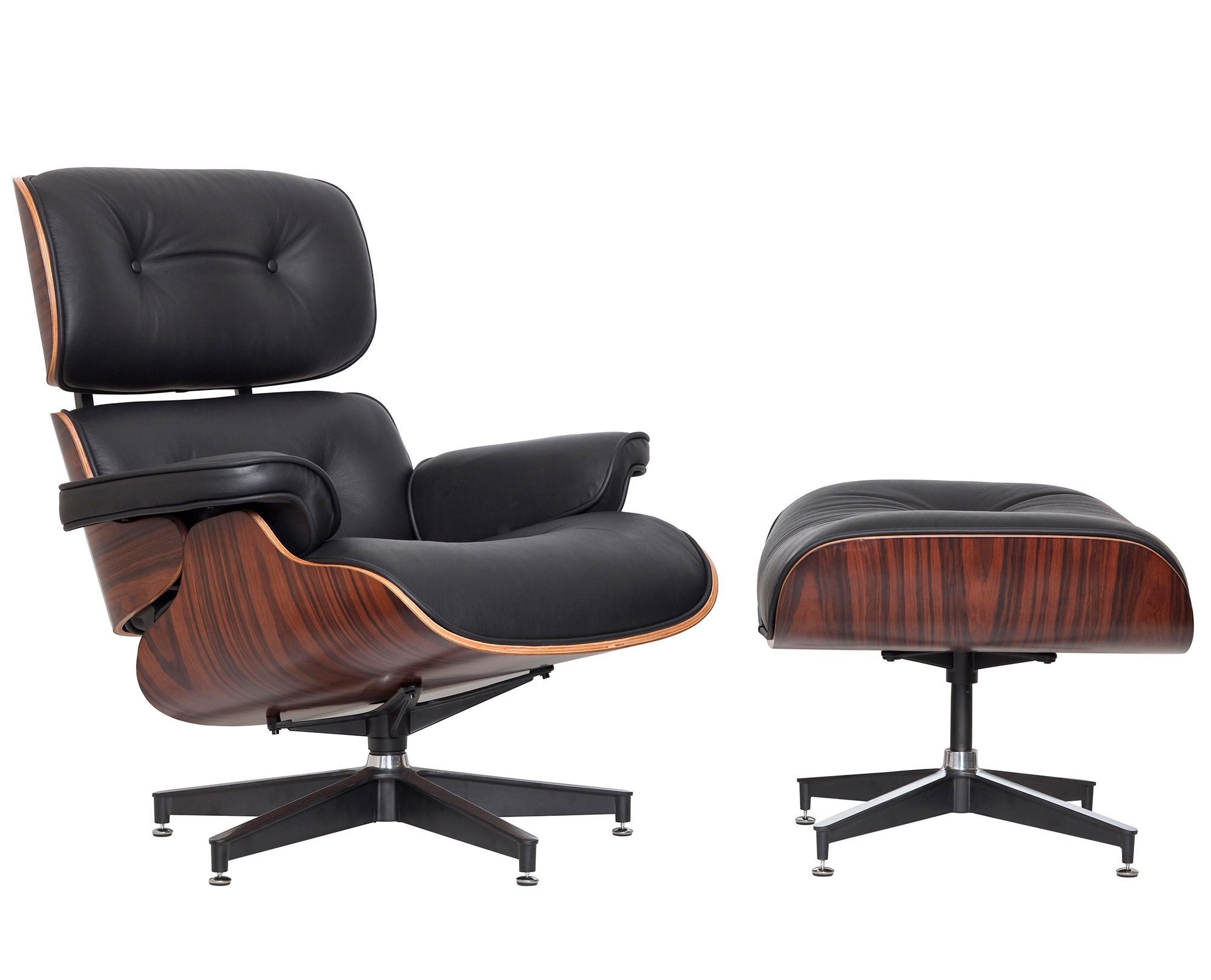 new milan direct eames classic replica lounge chair ottoman ebay. Black Bedroom Furniture Sets. Home Design Ideas
