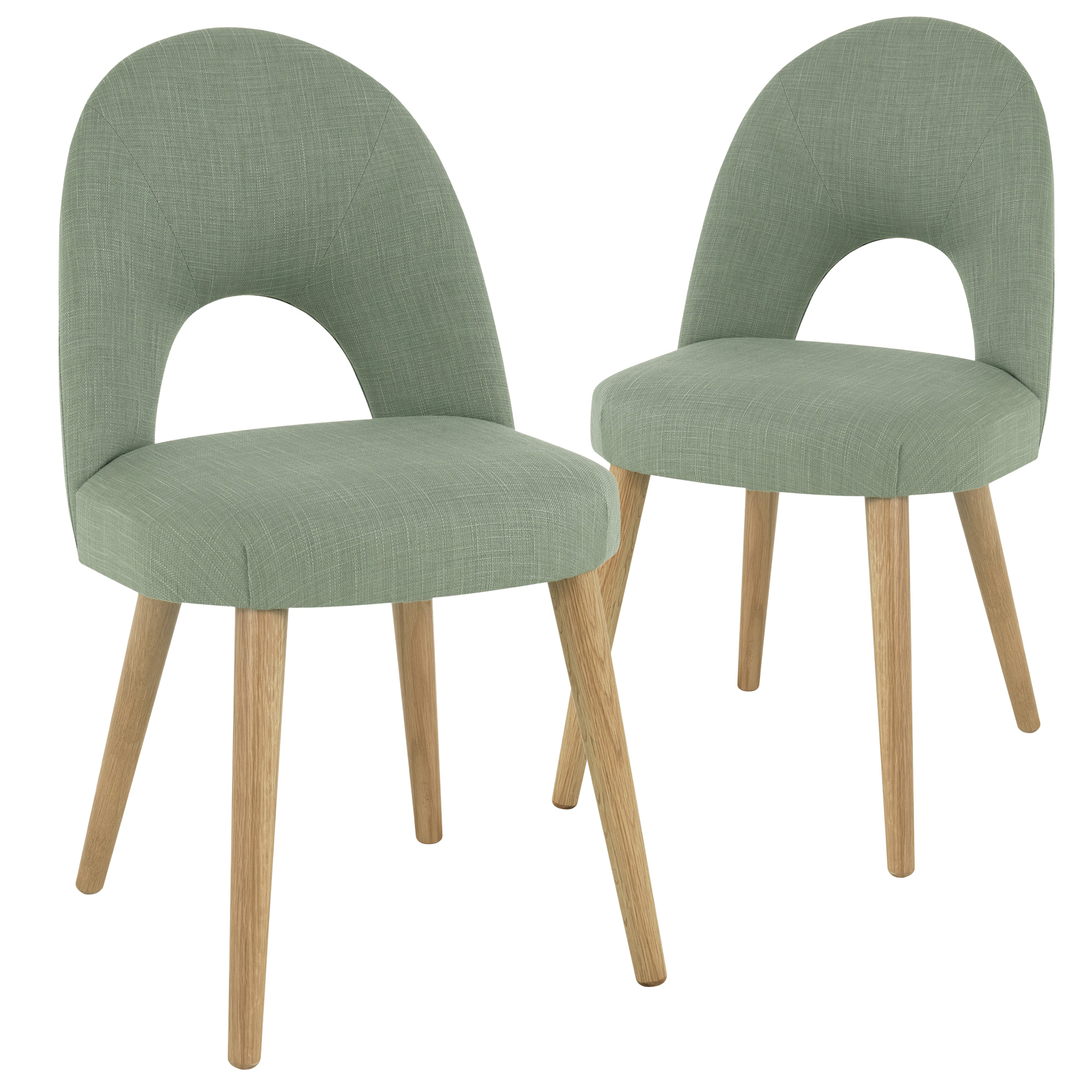 Olive Green Neo Upholstered Dining Chairs