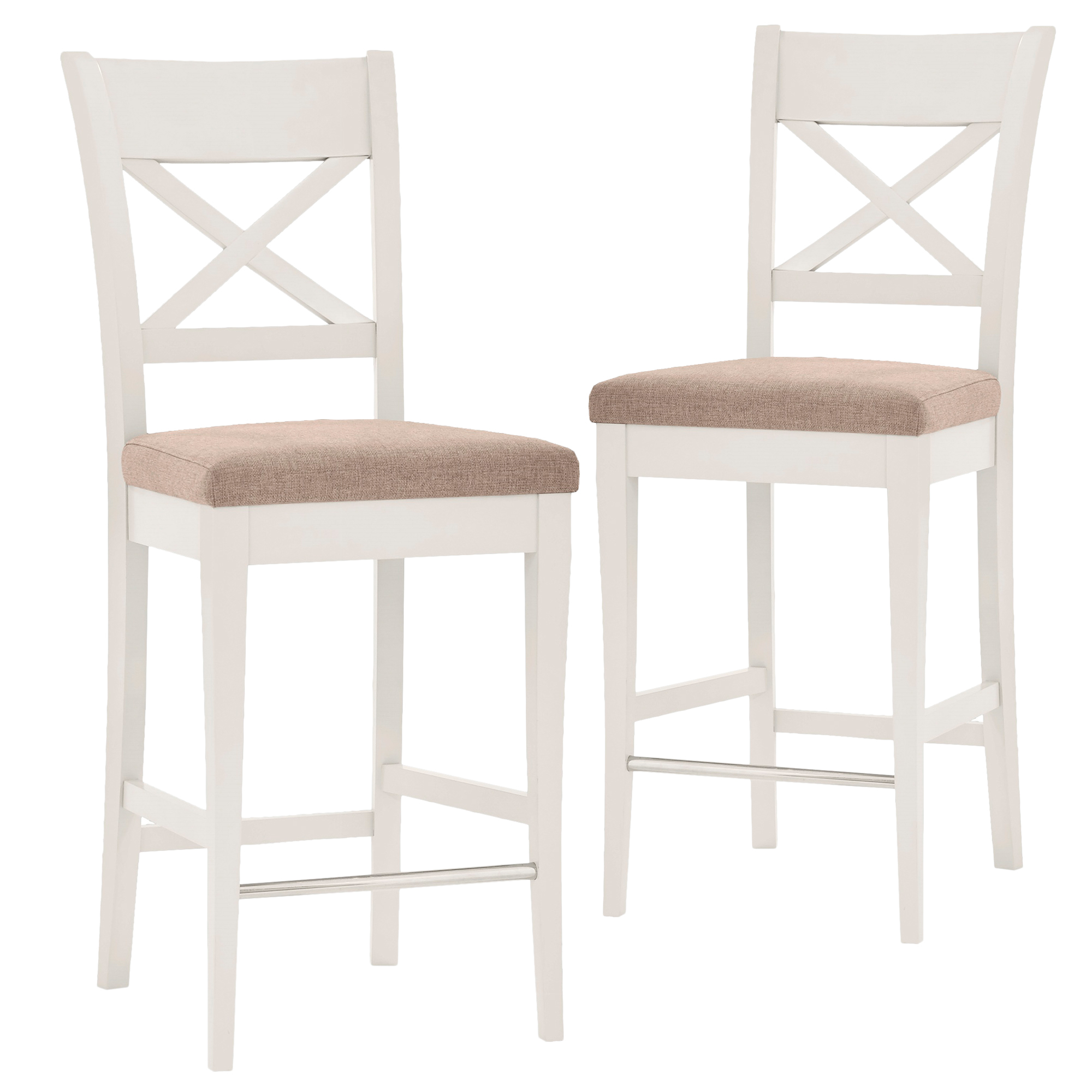 Perfect Emilia French Provincial Cross Back Bar Stools | Temple & Webster QY16