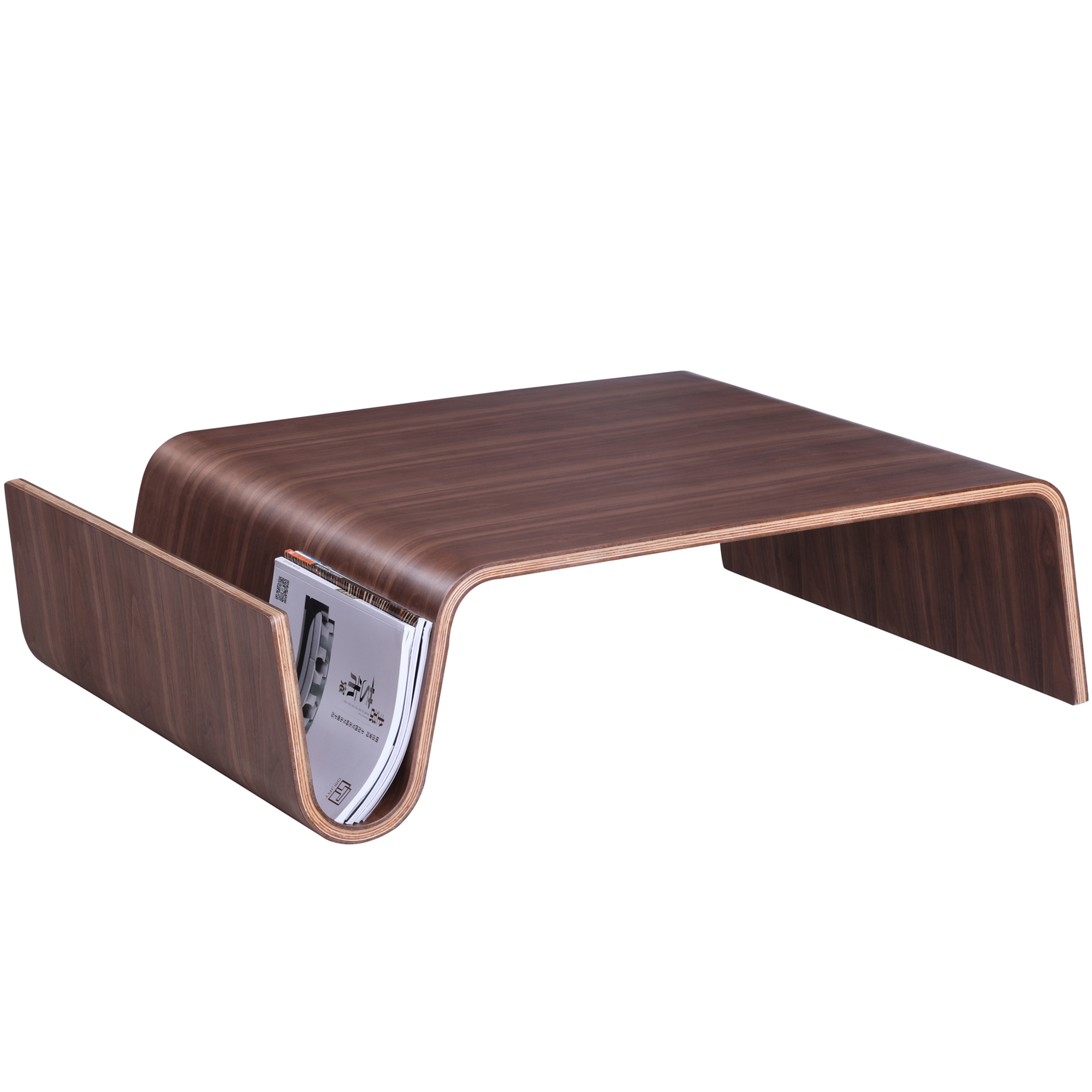 NEW Milan Direct Light Walnut Eric Pfeiffer Replica Offi Scando - Scando coffee table