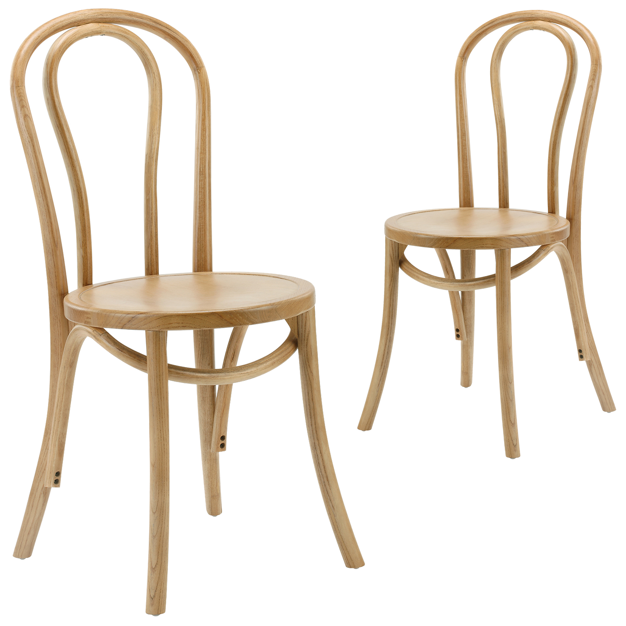 New set of 2 thonet replica bentwood chairs milan direct for Thonet replica chair