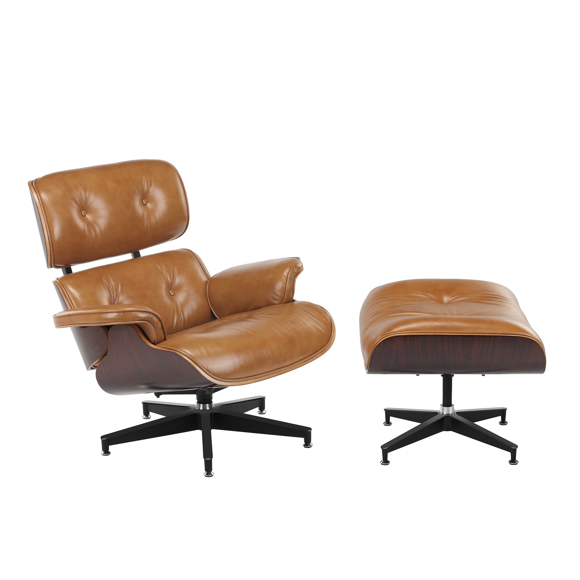 Tremendous Eames Premium Leather Replica Lounge Chair Ottoman Cjindustries Chair Design For Home Cjindustriesco