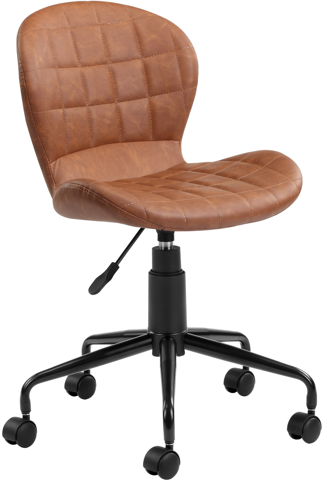 Image of: Milan Direct Brown Aviator Faux Leather Home Office Chair Reviews Temple Webster