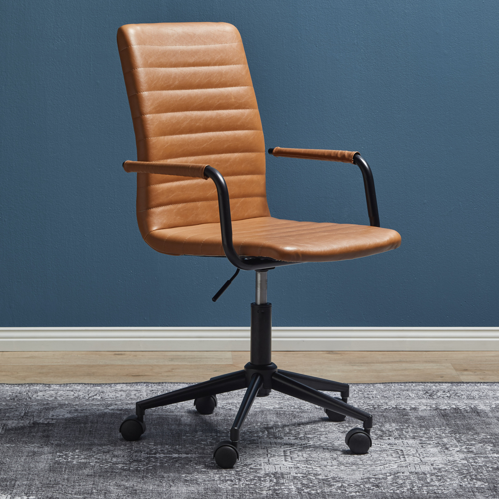 Milan Direct Vintage Tan Mose Faux Leather Home Office Chair Reviews Temple Webster