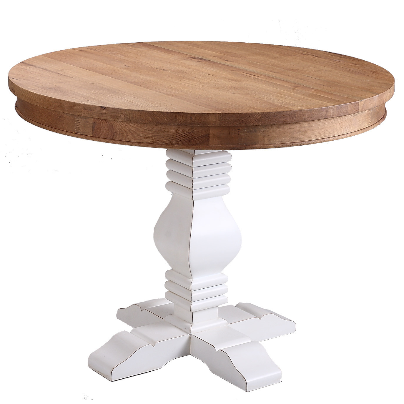 Izzie Round Oak Dining Table Temple Webster