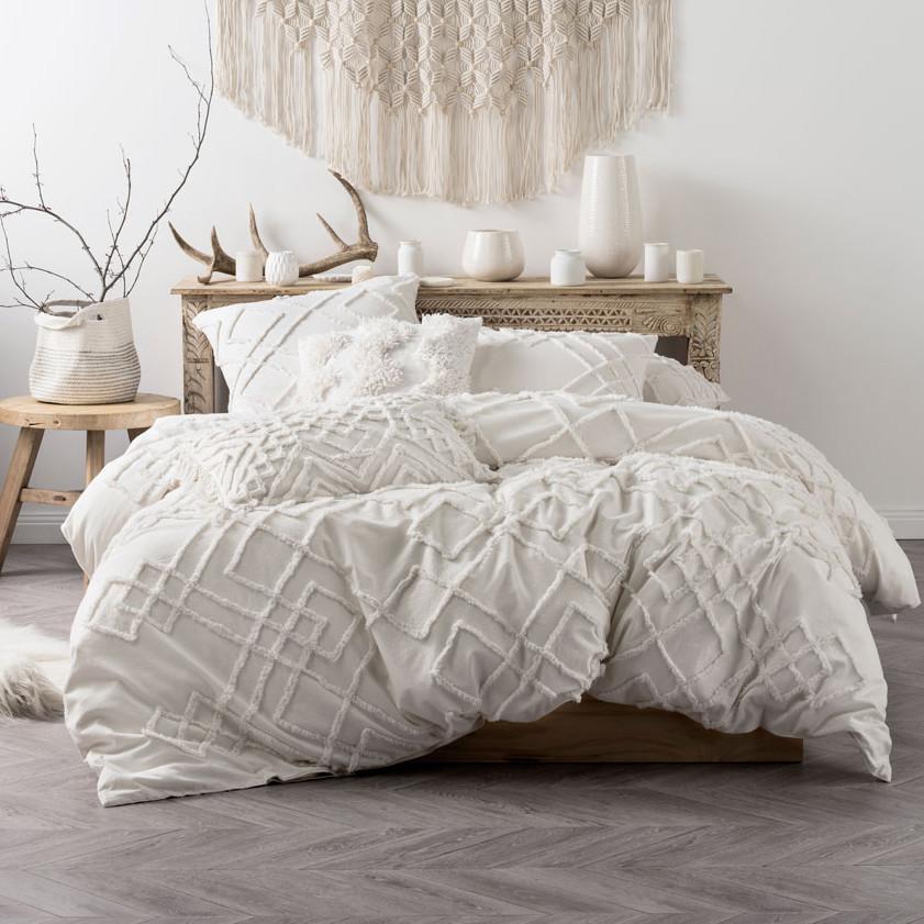 New White Sanura Quilt Cover Set Linen House Quilt