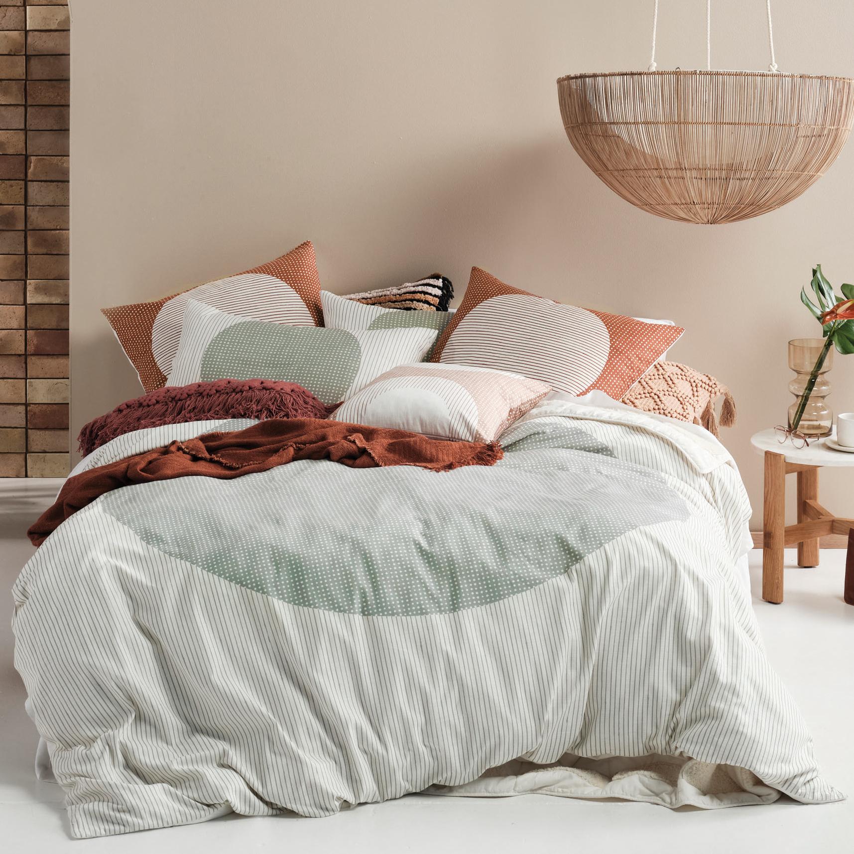 Linen House Stillwater Solar Cotton Quilt Cover Set Temple Webster
