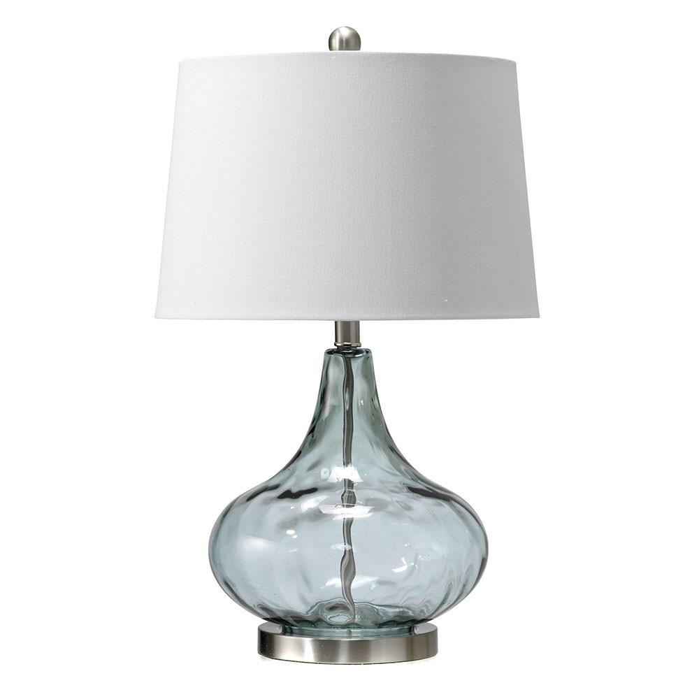 misty blue dew drop table lamp