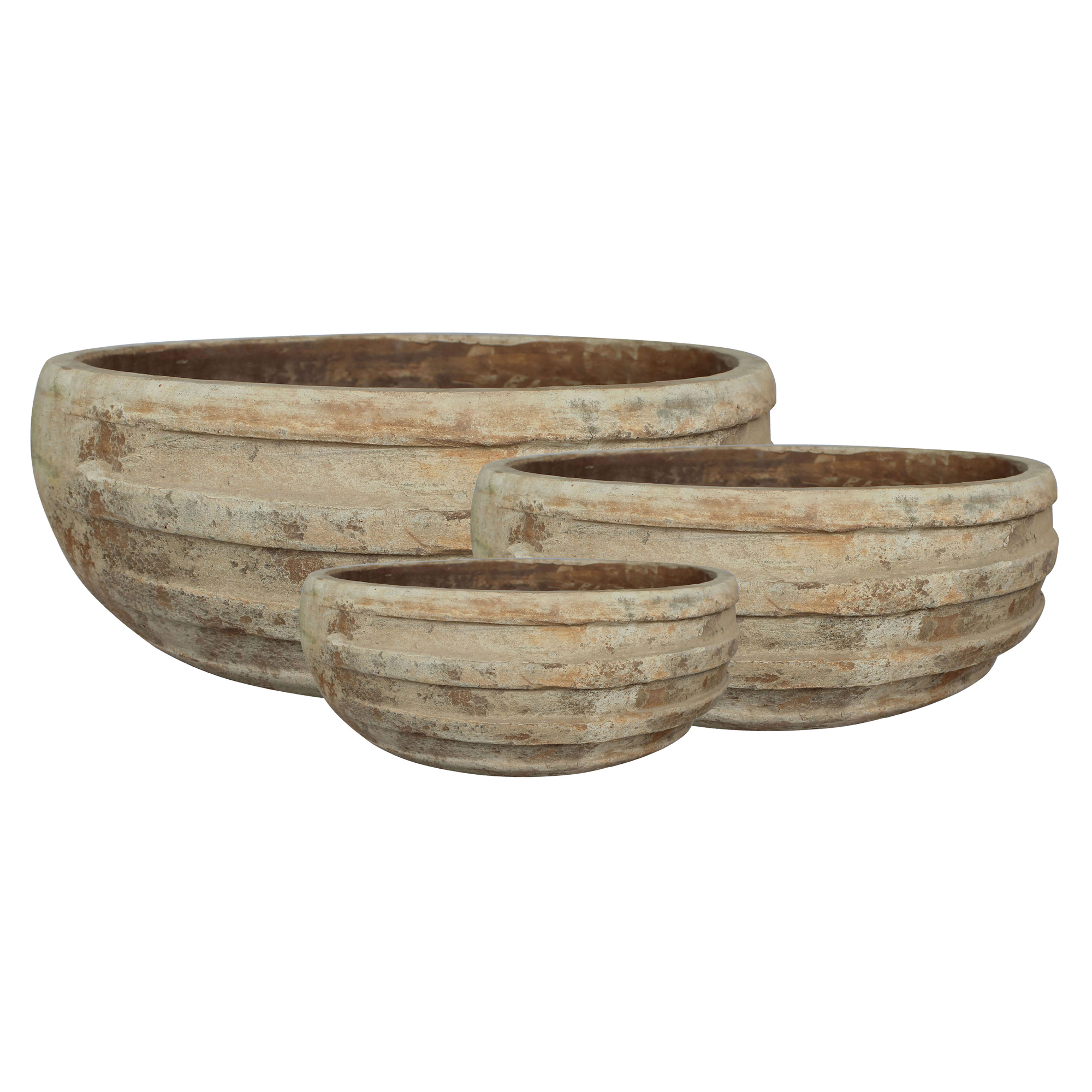 bowls pot rustic and shallow home terracotta bgreen planters indoor lacepot planter for side plants low