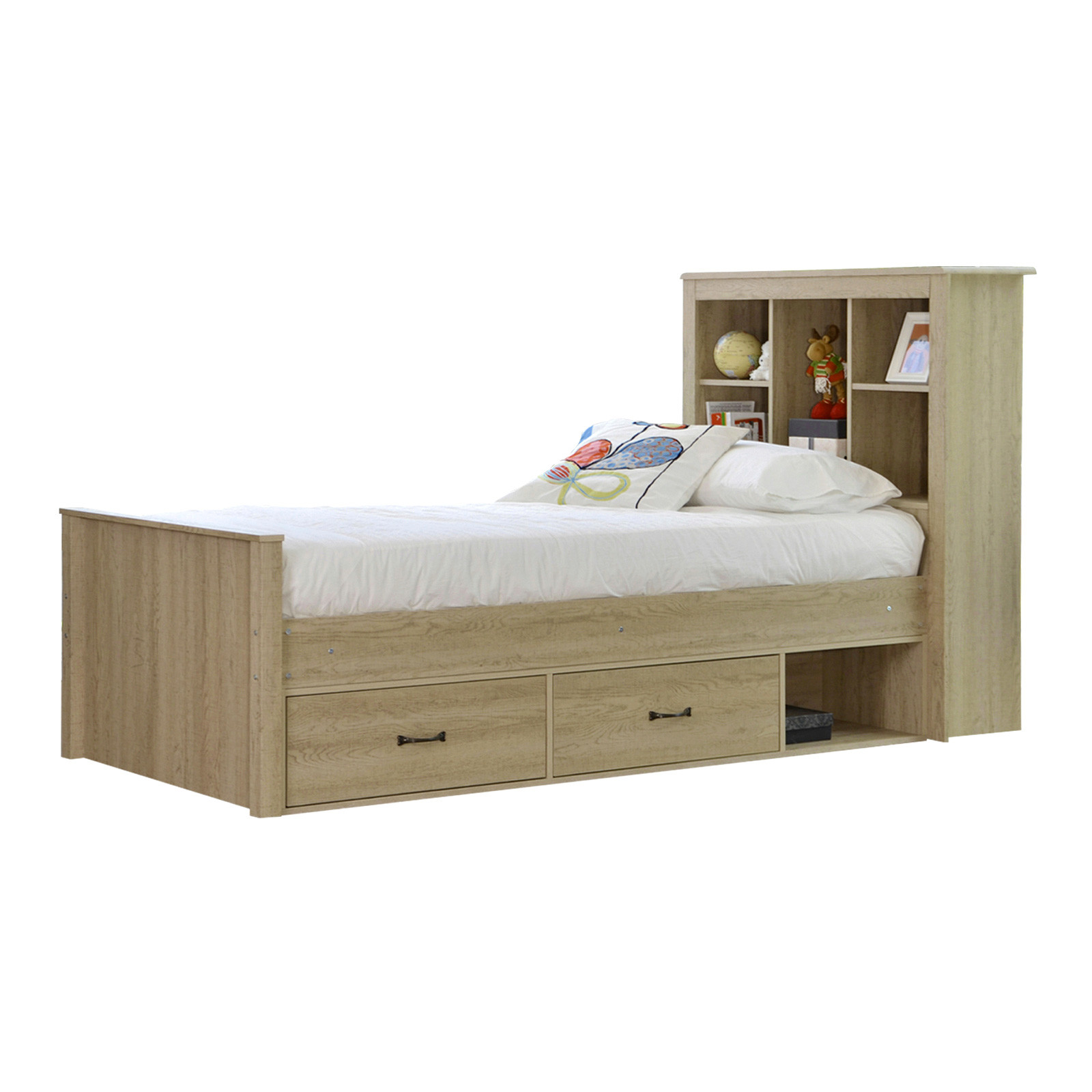 new oak jeppe king single bed deluxe mattress vic. Black Bedroom Furniture Sets. Home Design Ideas