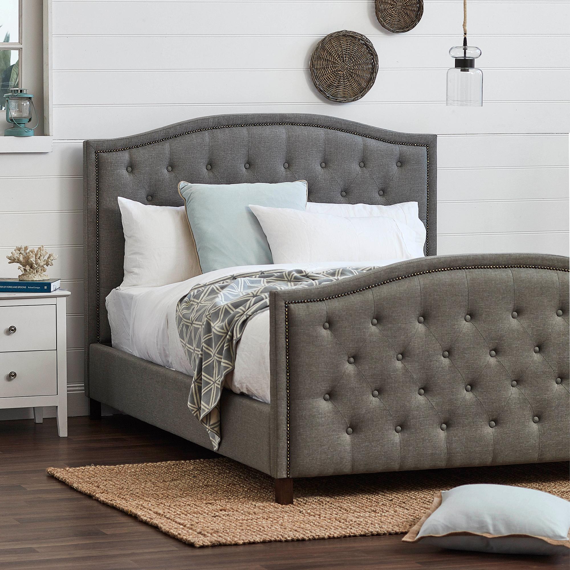 NEW Light Grey Luxury Aurora Queen Bed Frame