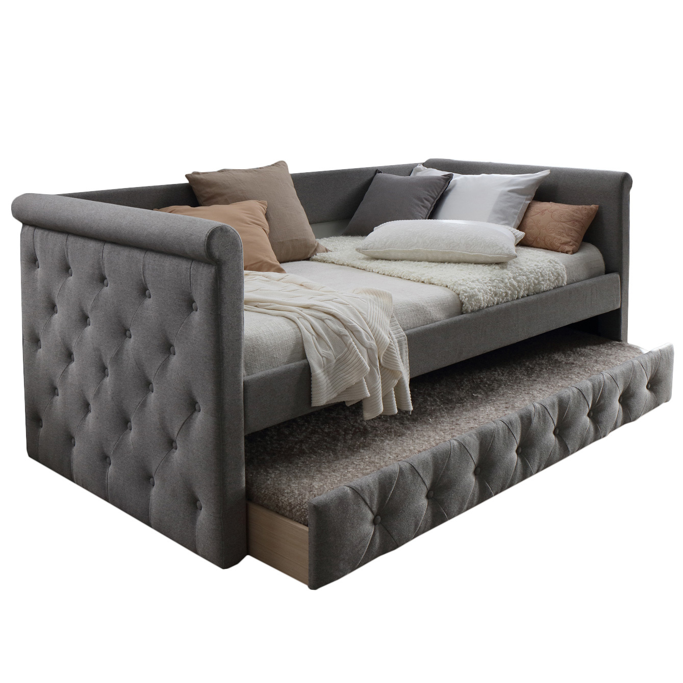 New Arles Single Sofa Daybed With Trundle Vic Furniture