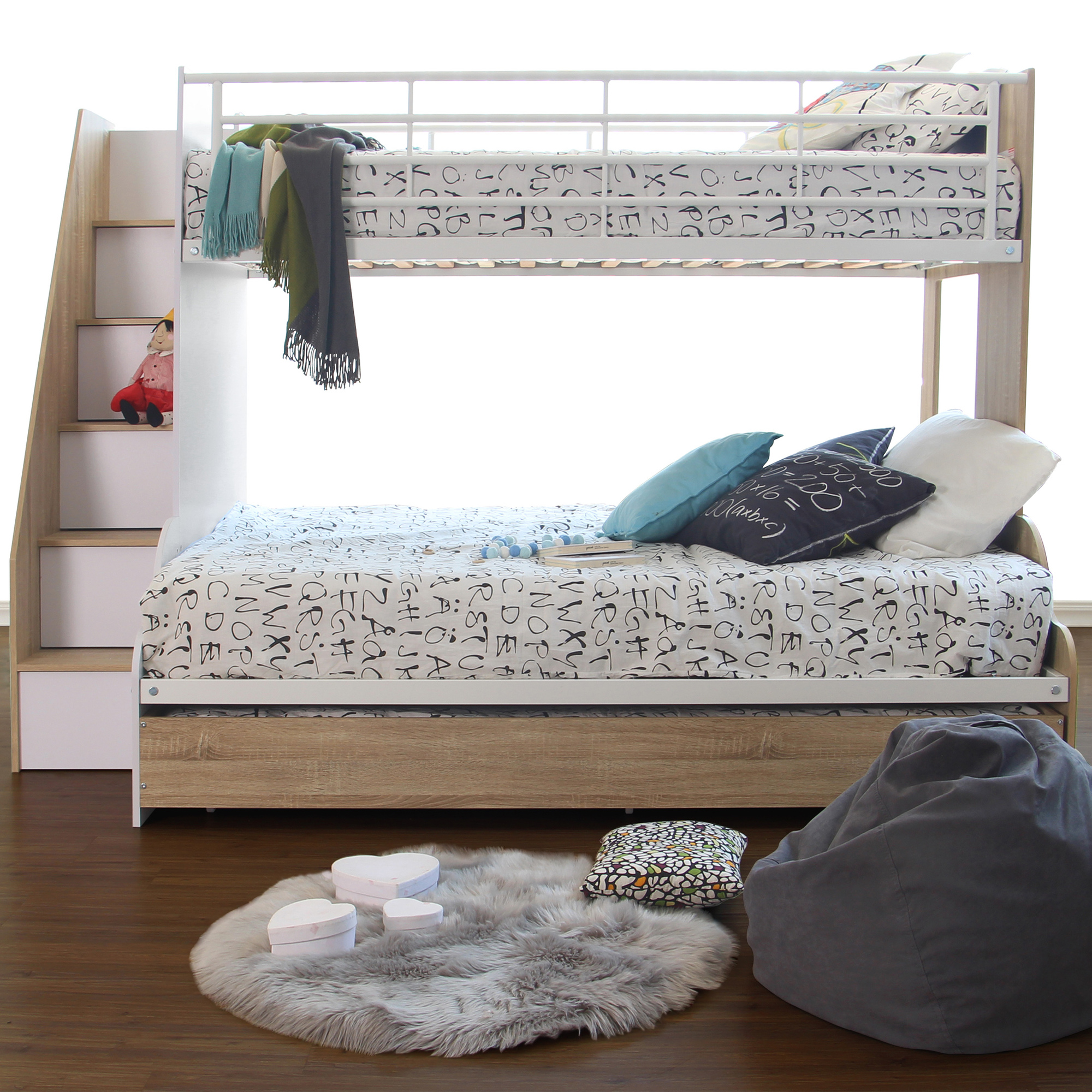 New Sonoma Levin Single Over Double Bunk Bed Vic