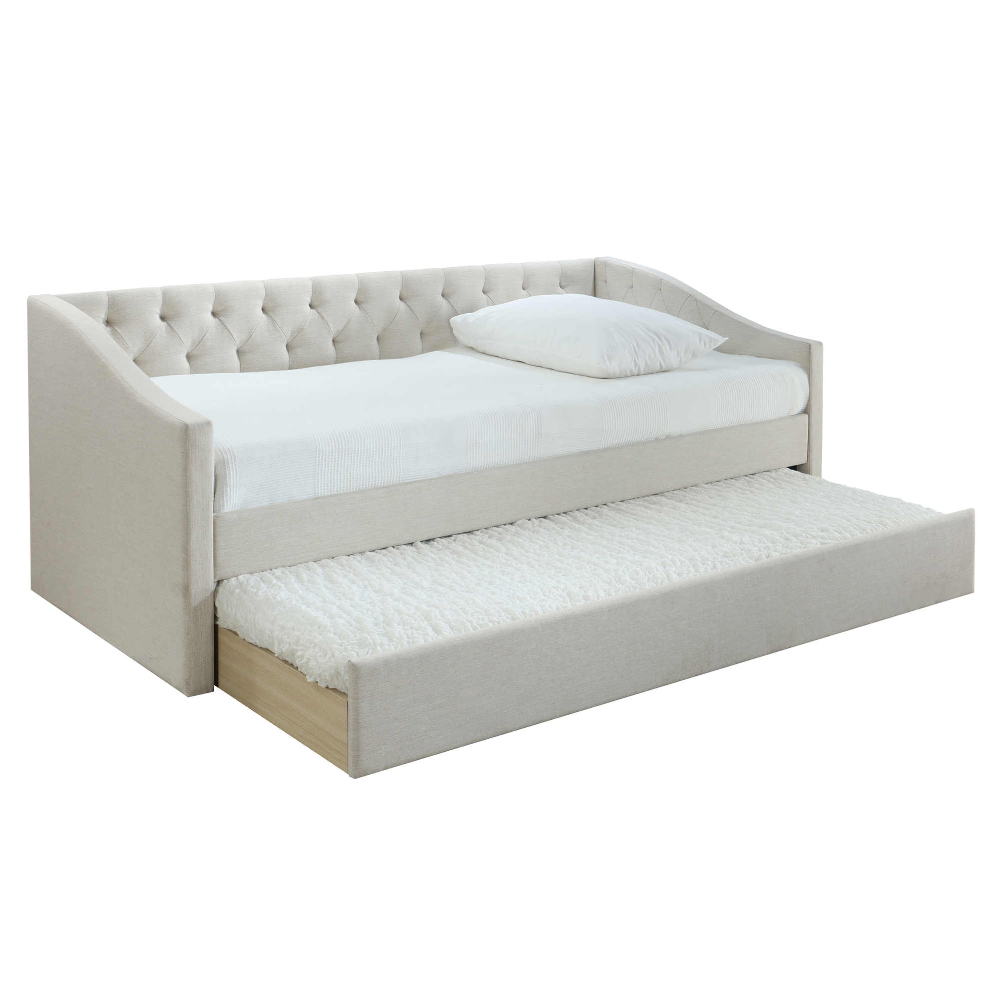 New Oat White Allegra Sofa Daybed With Trundle Vic