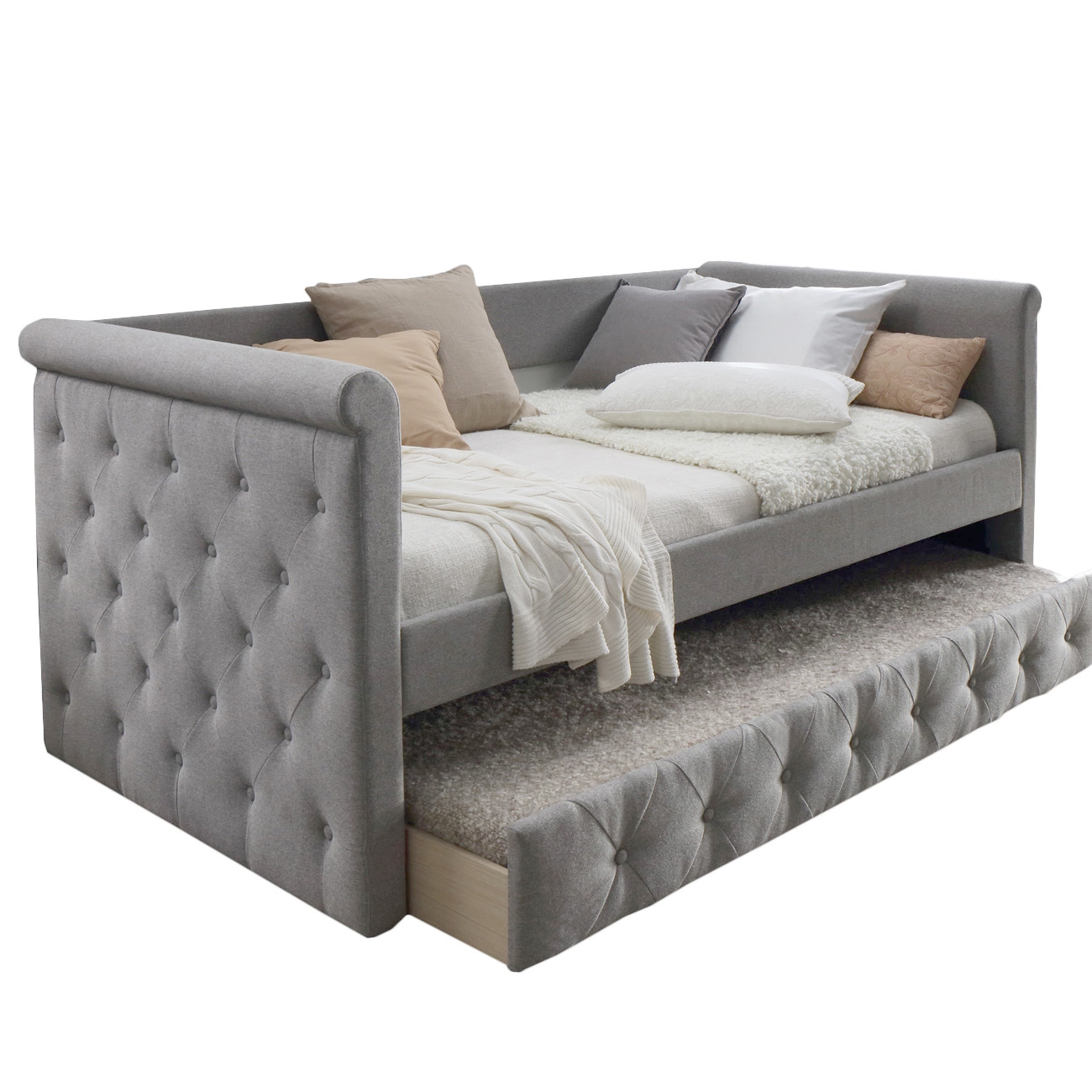 Enjoyable Details About New Arles Single Sofa Daybed With Trundle Vic Furniture Sofa Beds Inzonedesignstudio Interior Chair Design Inzonedesignstudiocom
