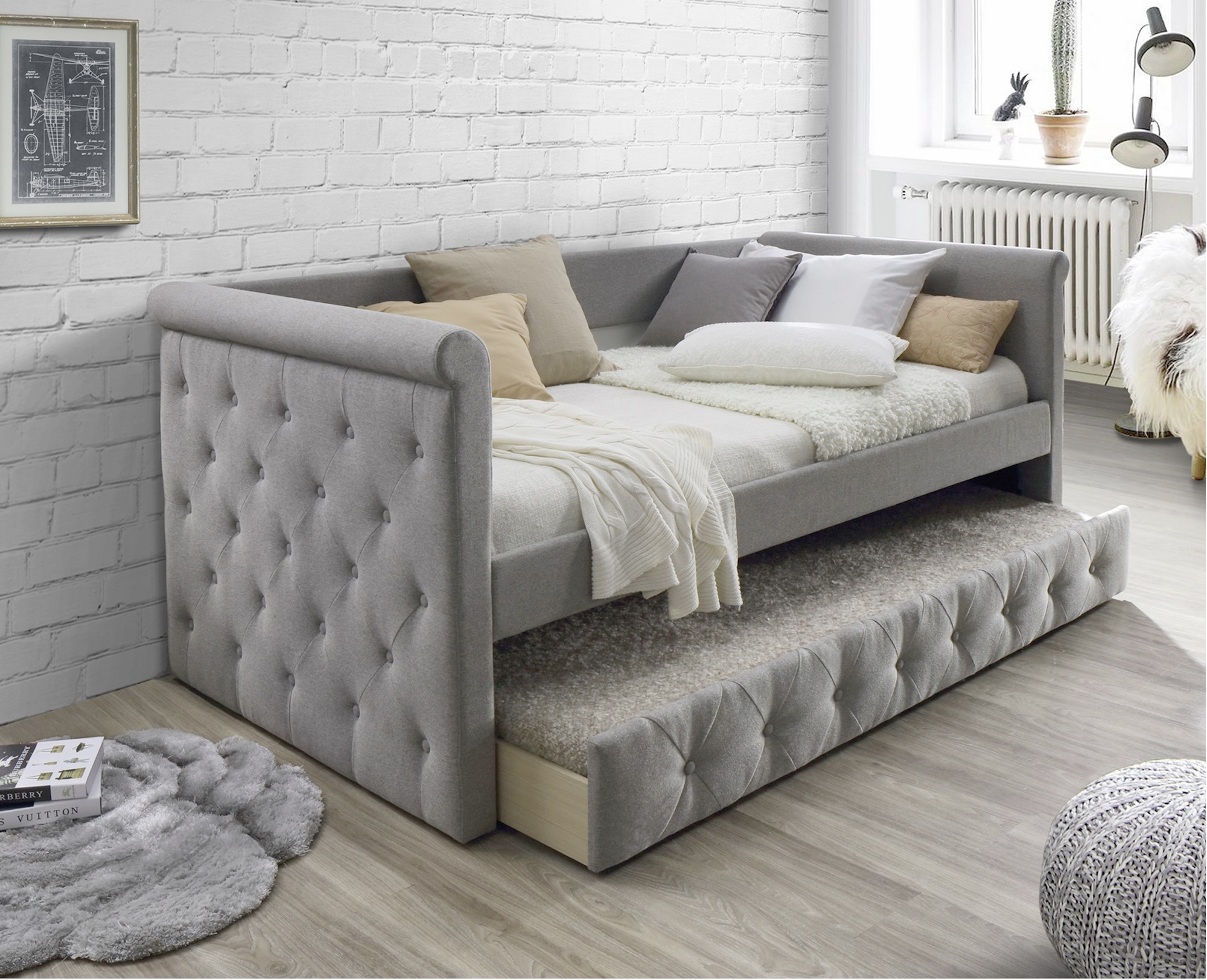 NEW Arles Single Sofa Daybed with Trundle   VIC Furniture ...