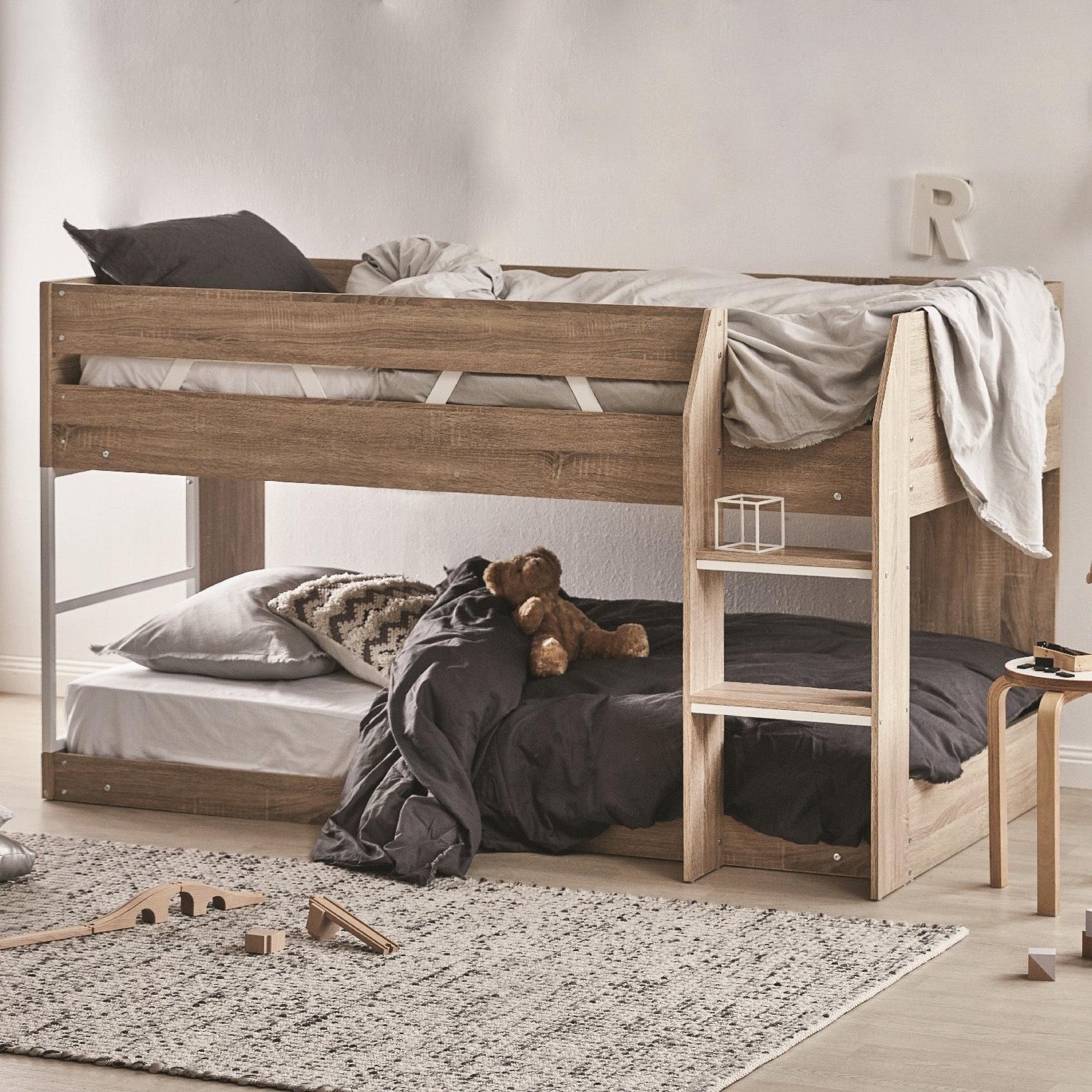 Vic Furniture Oak Grace Low Line Single Bunk Bed Reviews Temple Webster