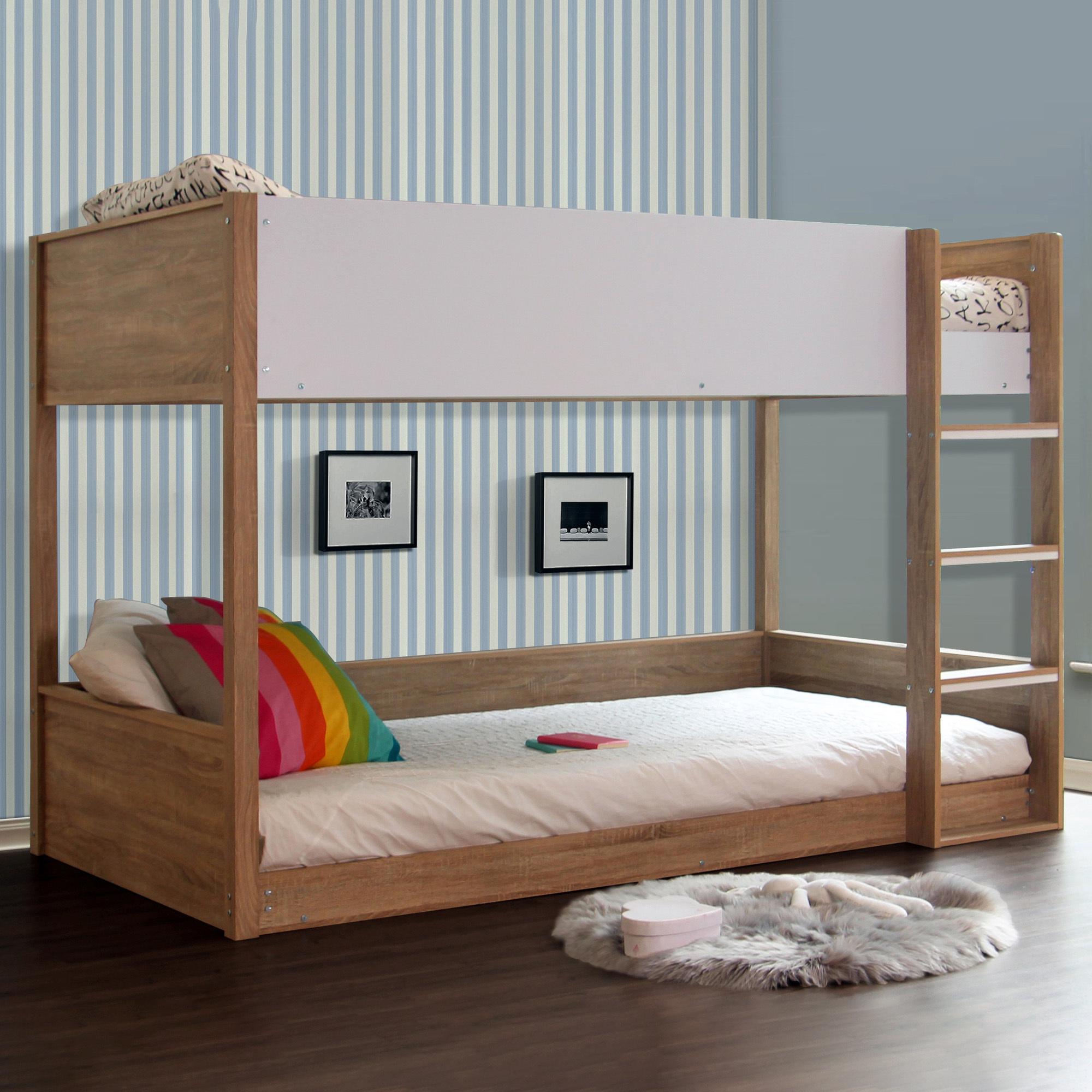 Picture of: Vic Furniture Sonoma Oak Gisborne King Single Bunk Bed Reviews Temple Webster