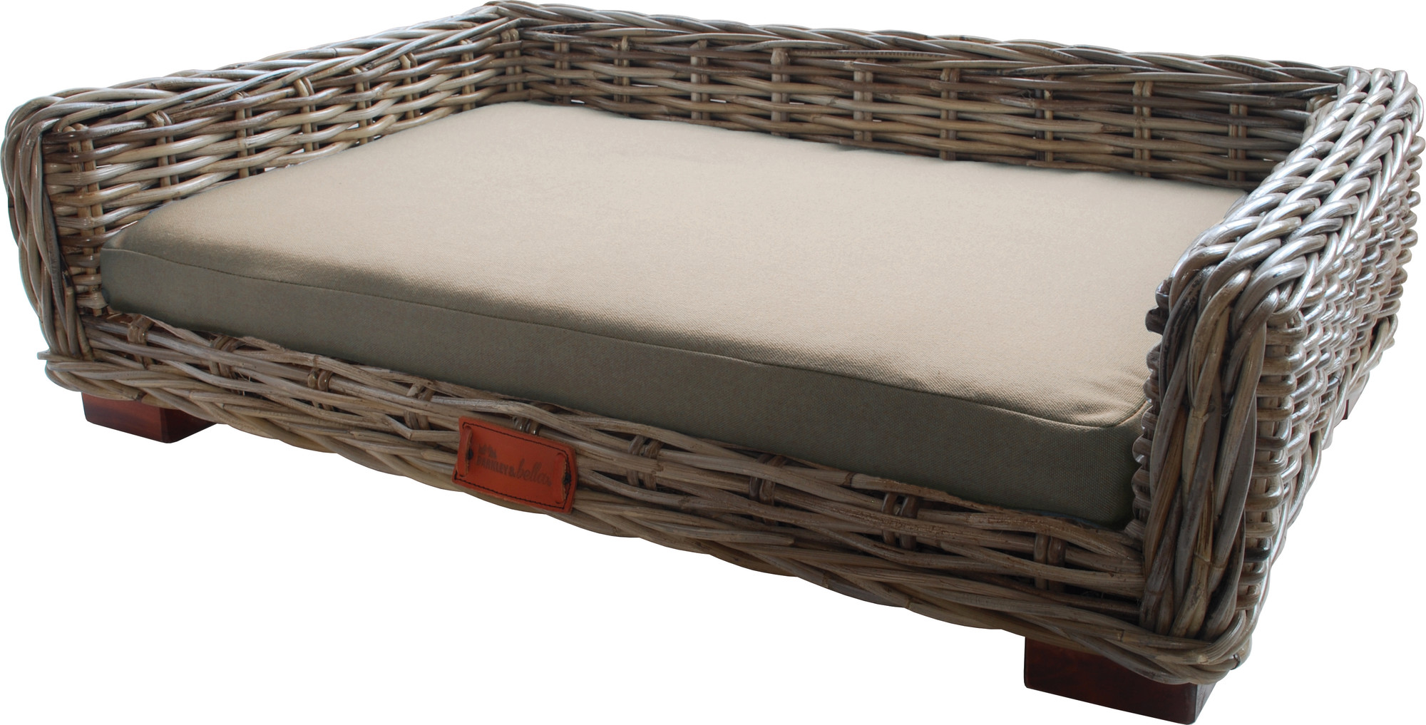 New Grey Wicker Dog Lounge Barkley And Bella Pet Beds