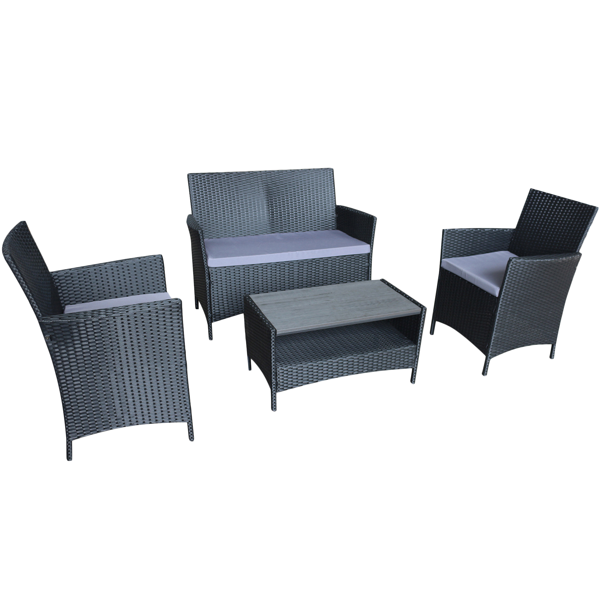 4 Seater Ravello Polywood Outdoor Sofa Set Temple Webster