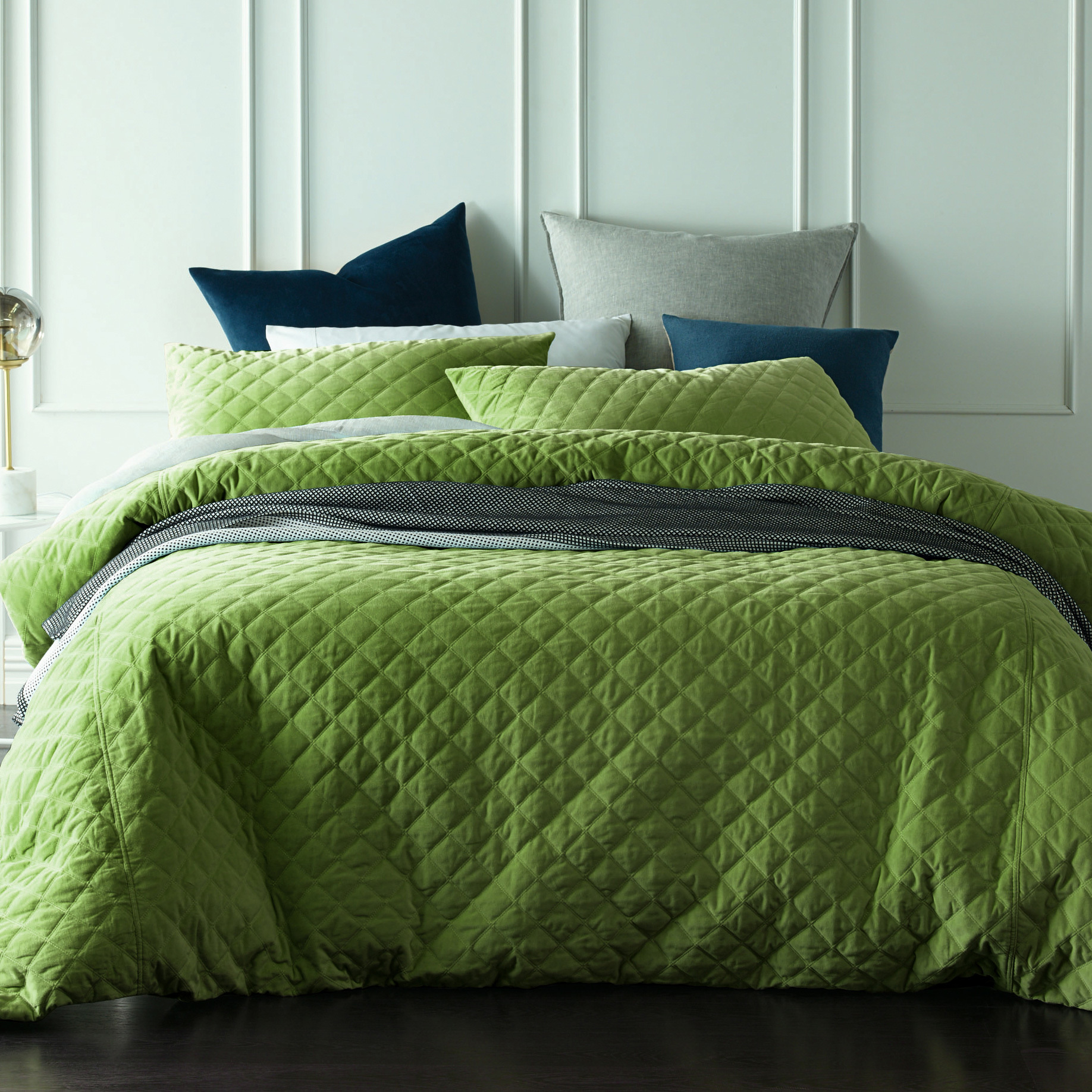 Green Velvet Duvet Cover Sweetgalas